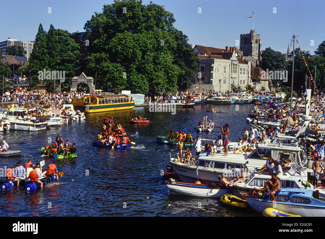 Maidstone river festival. Kent. England. UK. Circa 1980's - Stock Image