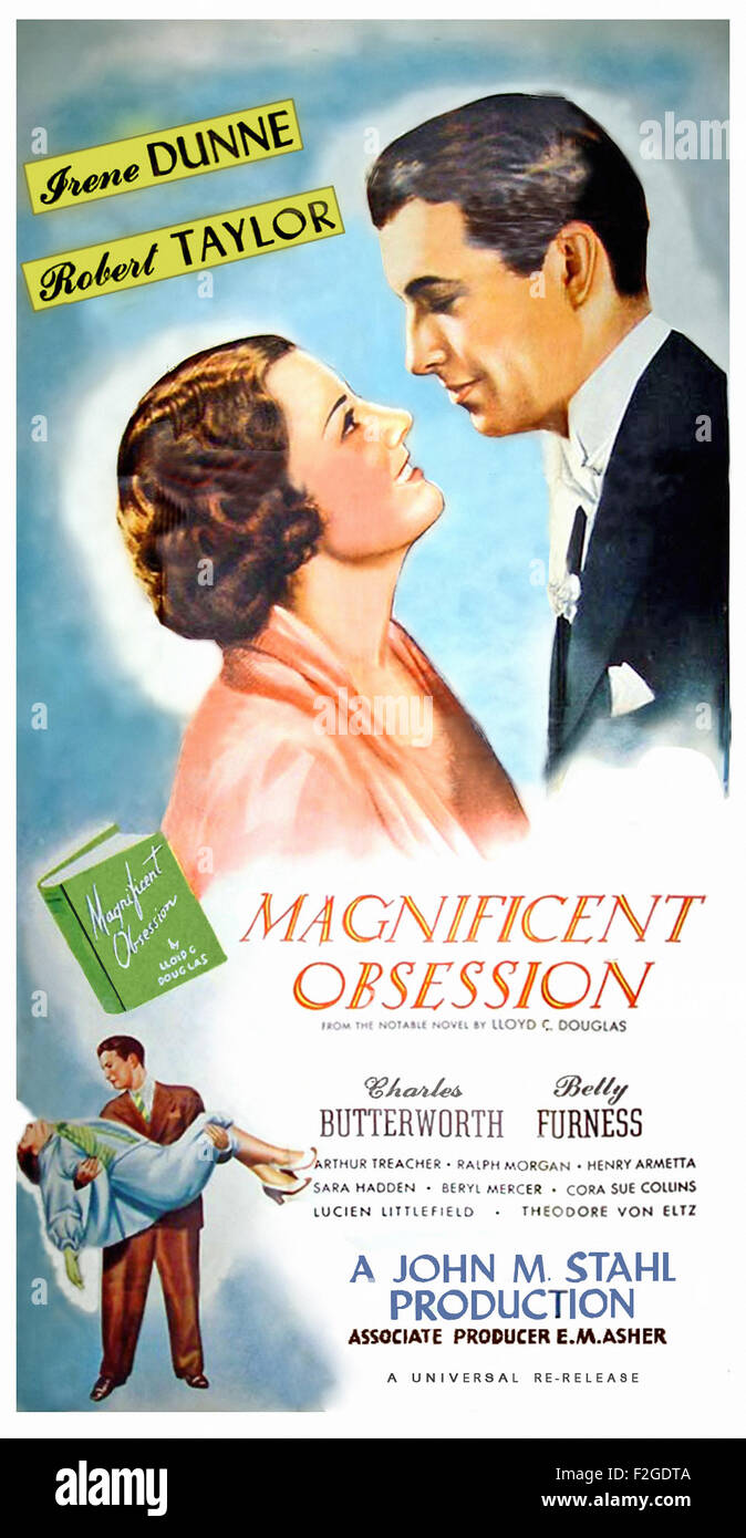 Magnificent Obsession (1935) 01 - Movie Poster - Stock Image