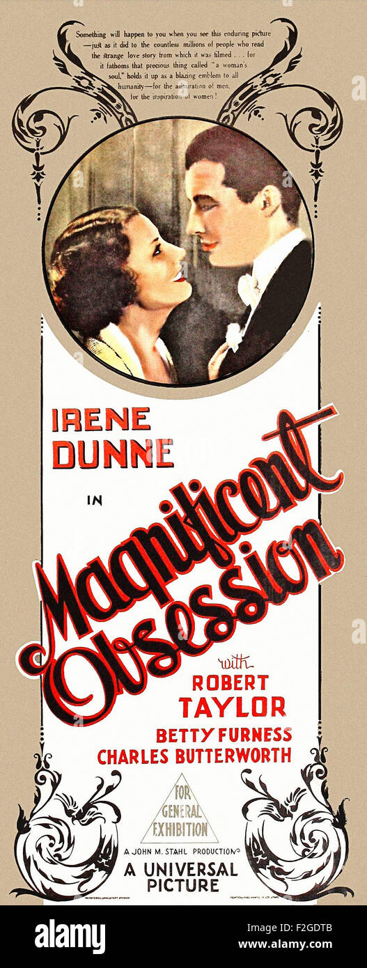 Magnificent Obsession (1935) 03 - Movie Poster - Stock Image