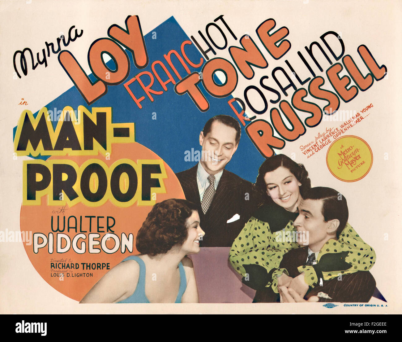 Man Proof 01 - Movie Poster - Stock Image