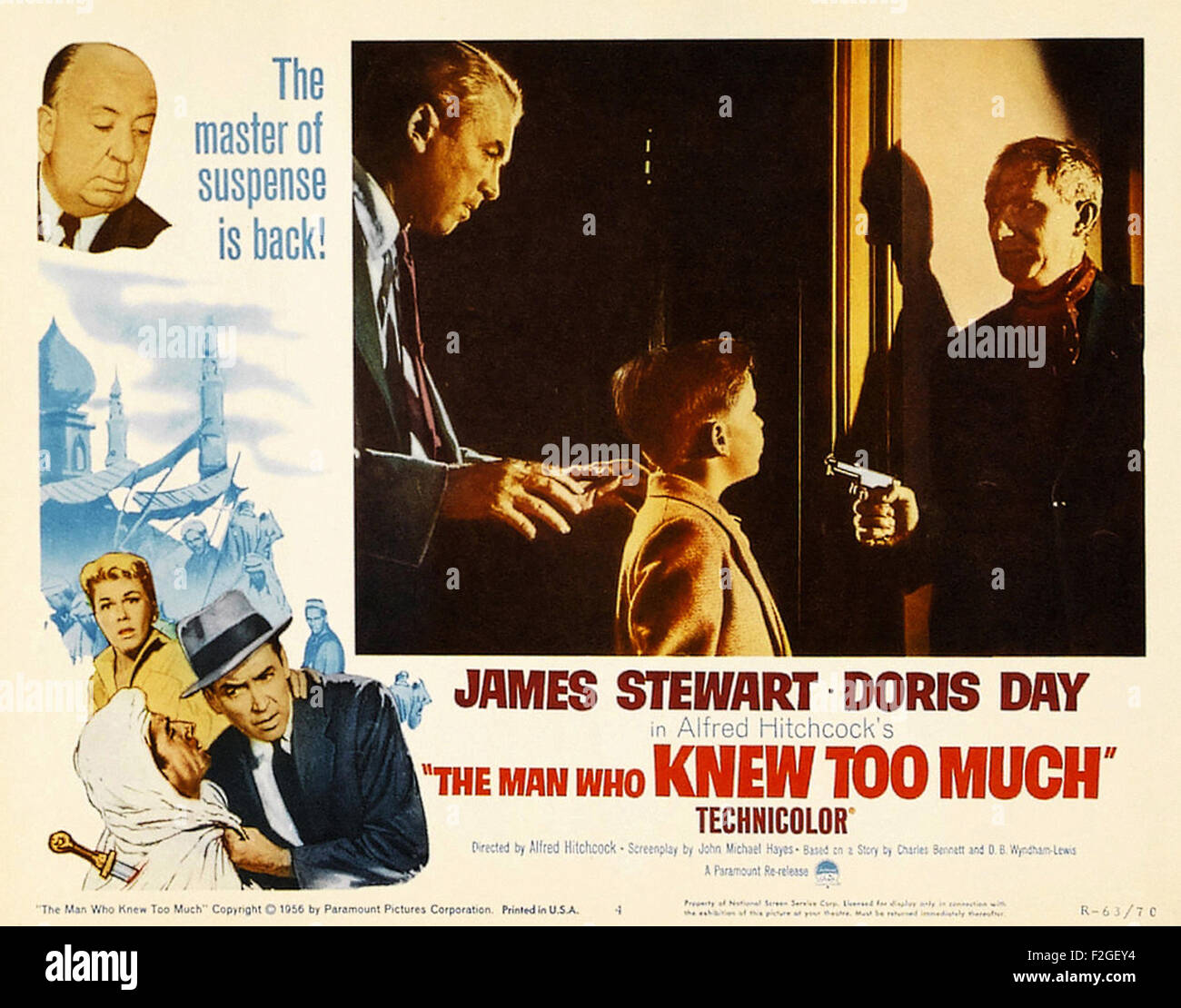 Man Who Knew Too Much, The (1956) 11 - Movie Poster - Stock Image