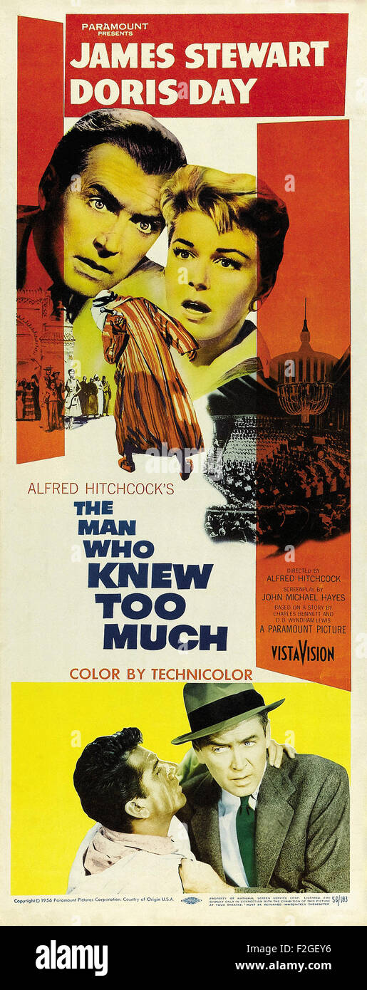 Man Who Knew Too Much, The (1956) 14 - Movie Poster - Stock Image