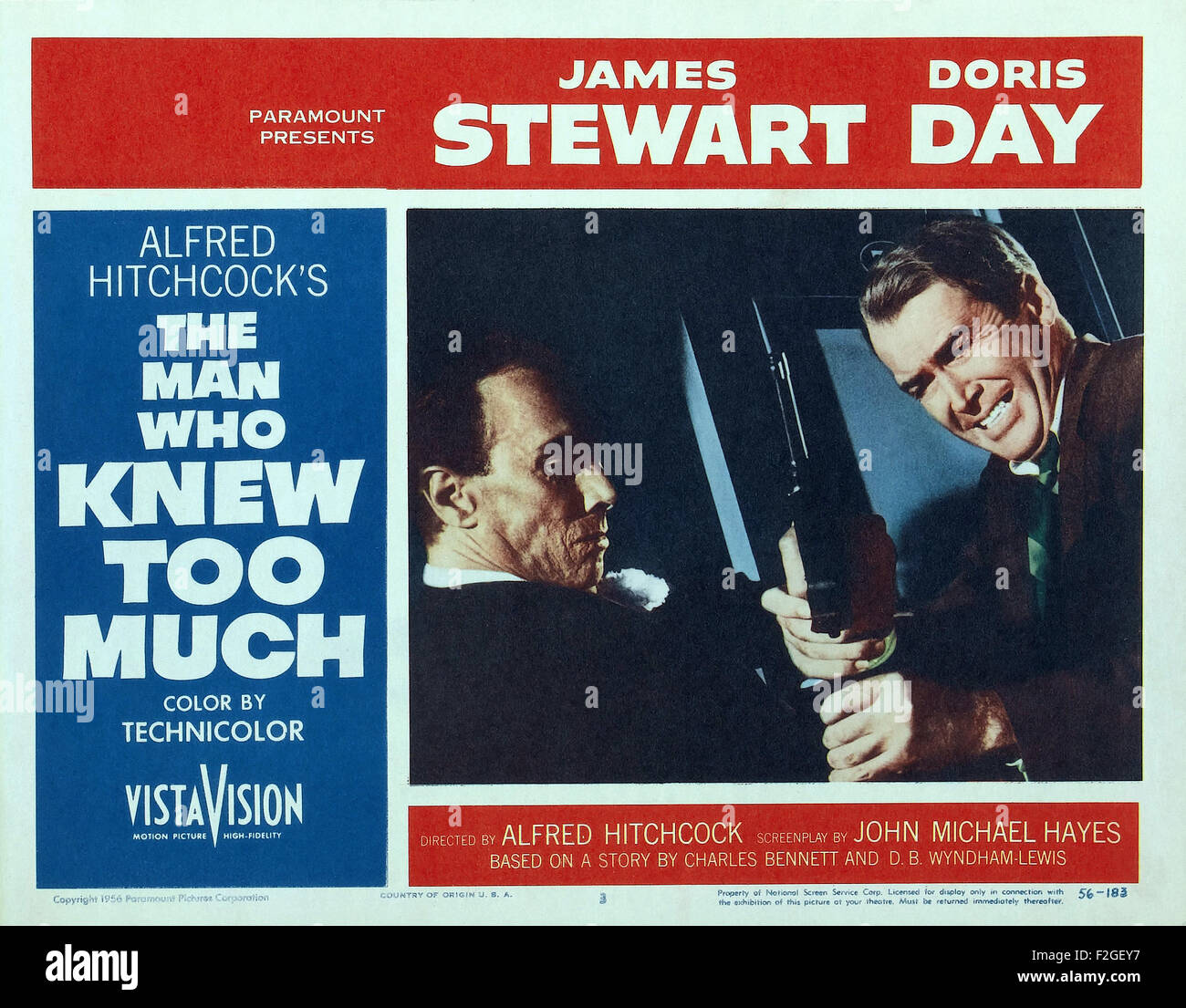 Man Who Knew Too Much, The (1956) 17 - Movie Poster - Stock Image