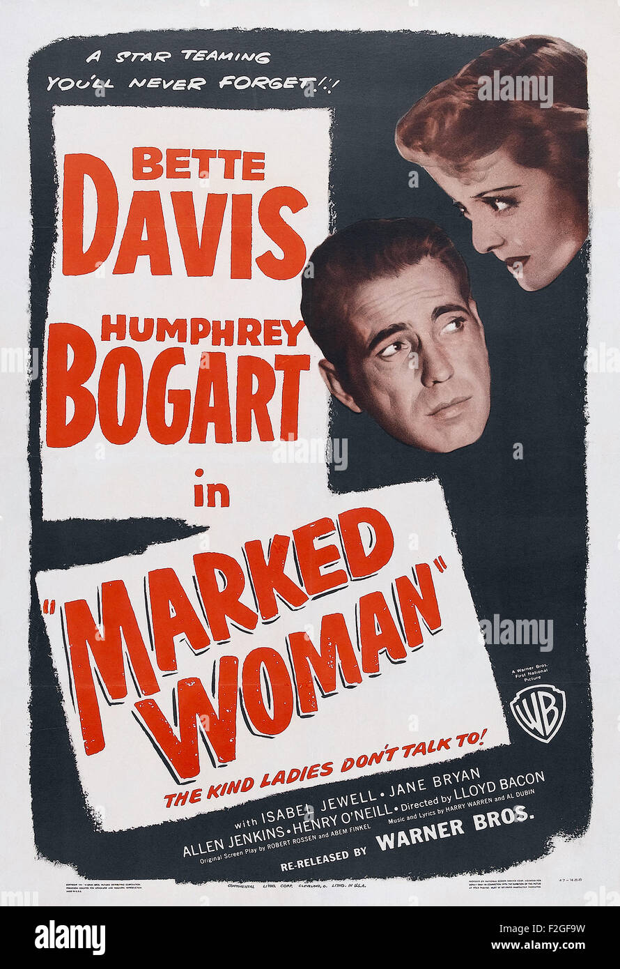 Marked Woman 01 - Movie Poster - Stock Image