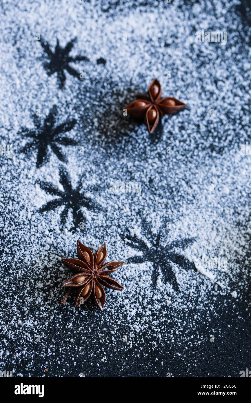 Anise star. Winter - Stock Image