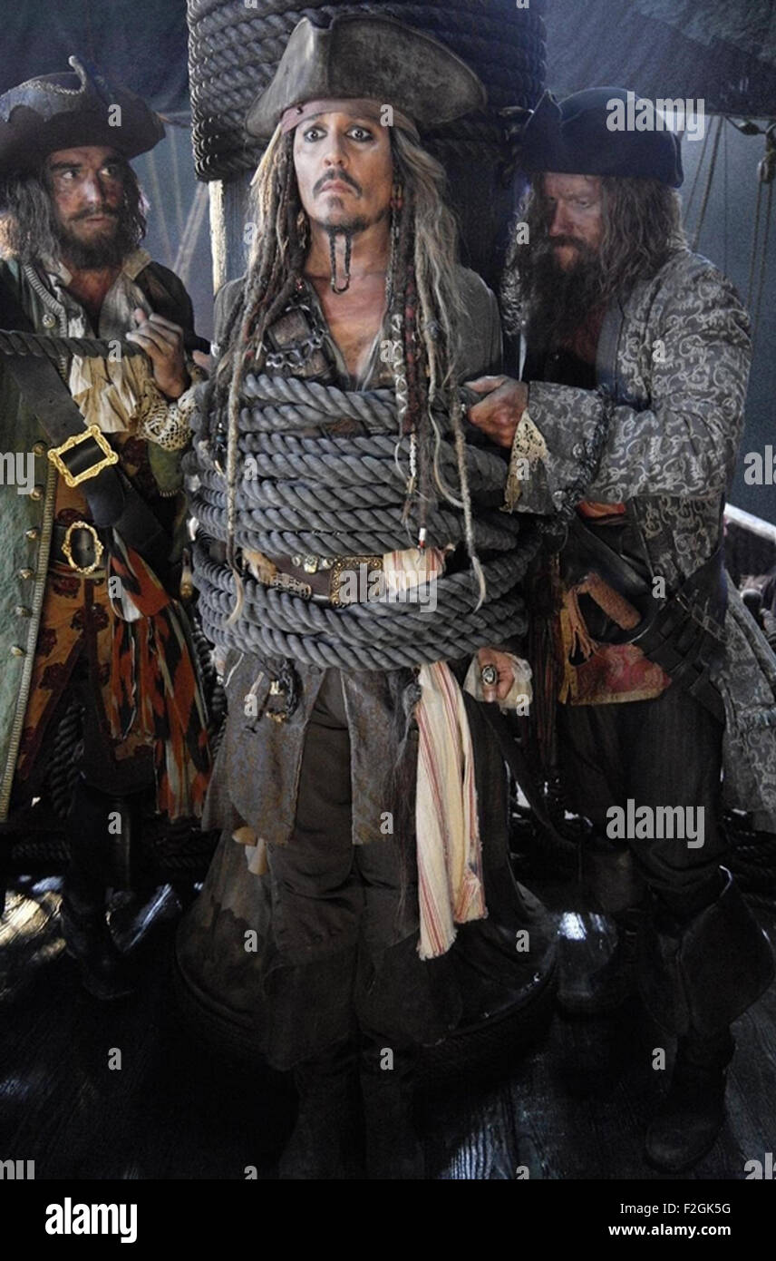 PIRATES OF THE CARIBBEAN : DEAD MEN TELL MORE TALES  2017 Walt Disney Pictures film with Johnny Depp - Stock Image
