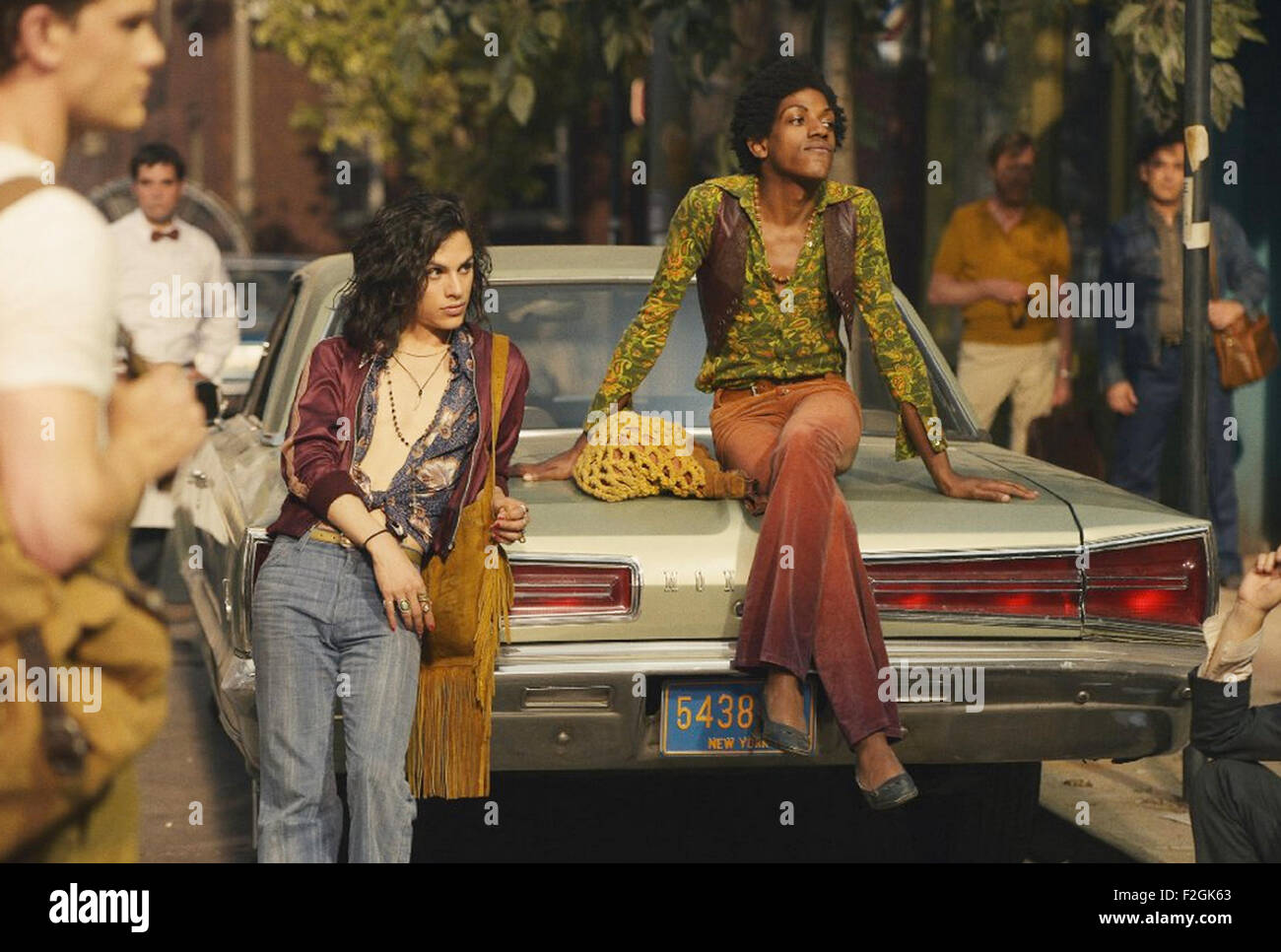 STONEWALL 2015 Roadside Attractions film with Jonny Beauchanp at left and Vladimir Alexis - Stock Image