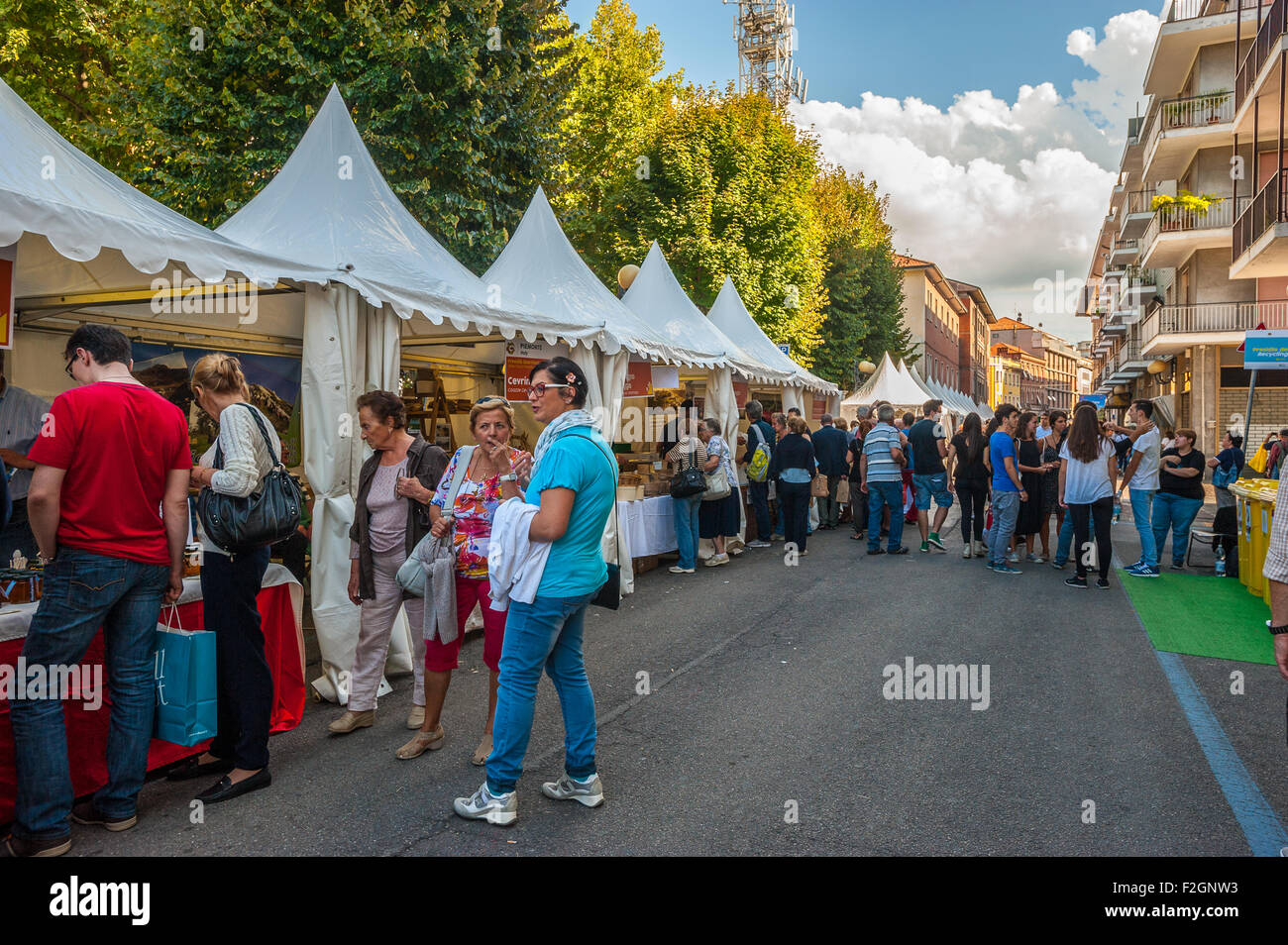 "Italy Piedmont Bra 18th September 2015 the fair ""Cheese"" Stock Photo"