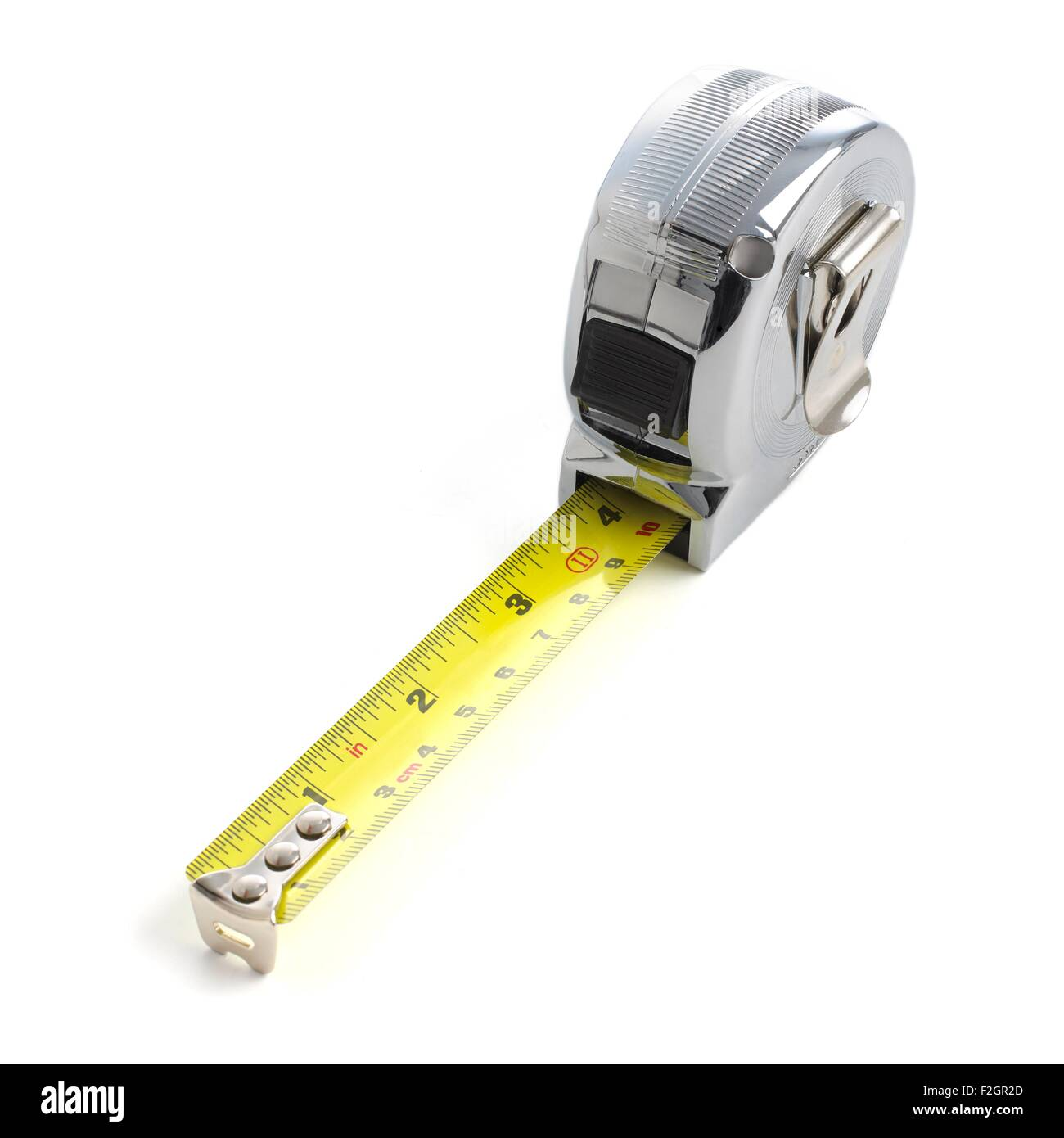 Retractable tape measure - Stock Image