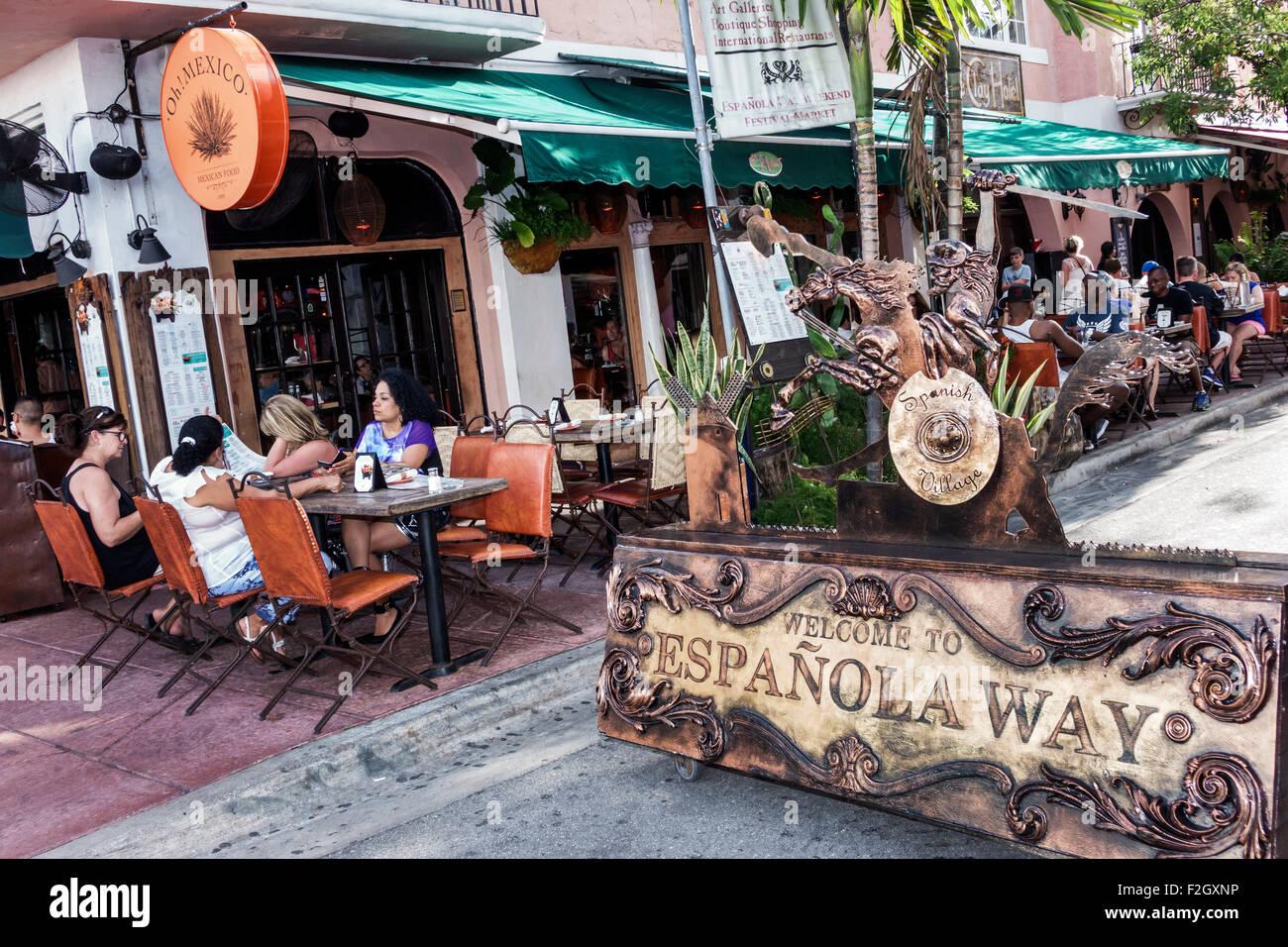 Mexican Restaurant On Espanola Way Miami Beach