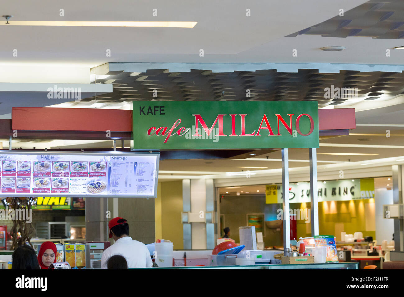 Cafe Milano Stock Photo