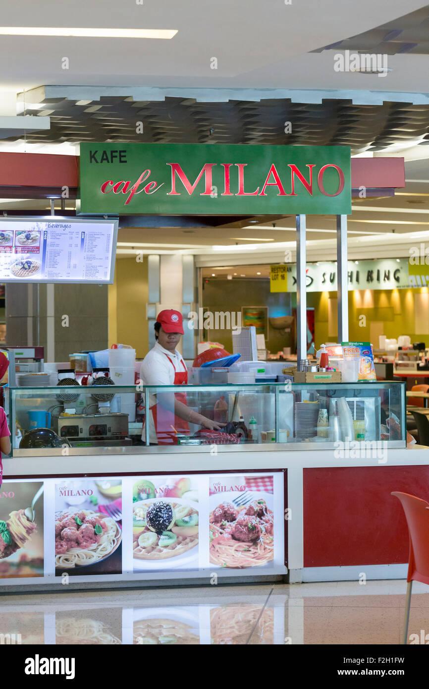 Cafe Milano shop Stock Photo