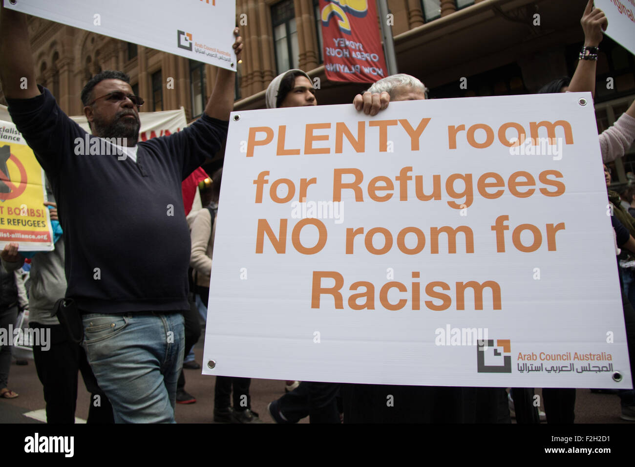 Sydney, Australia. 19 September. A rally and march against fear and 'racism', and in support of diversity and multiculturalism - Stock Image