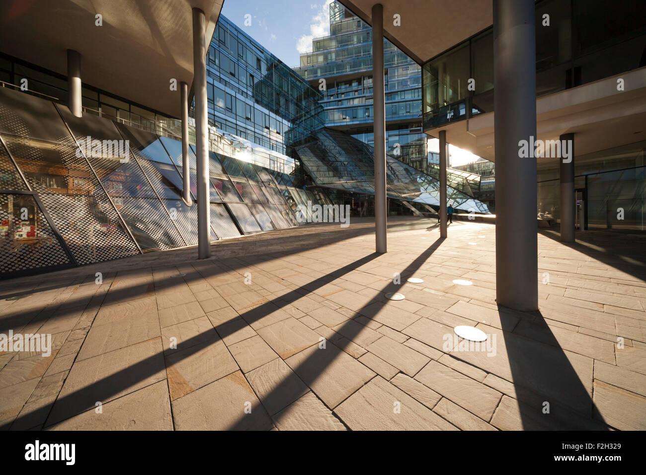 Bank NORD/LB modern head office designed by Behnisch Architekten in Hanover, Lower Saxony, Germany - Stock Image