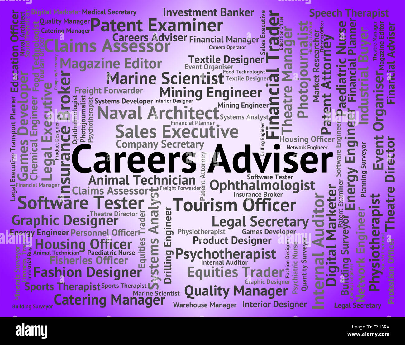 Careers Adviser Representing Position Employment And Counsellor - Stock Image