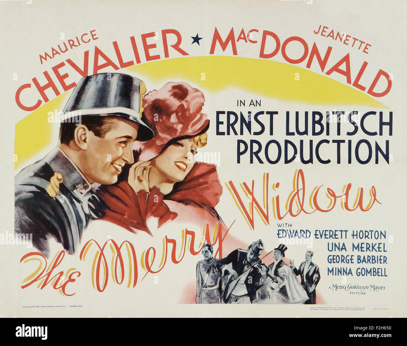 Merry Widow, The (1934) 02 - Movie Poster - Stock Image