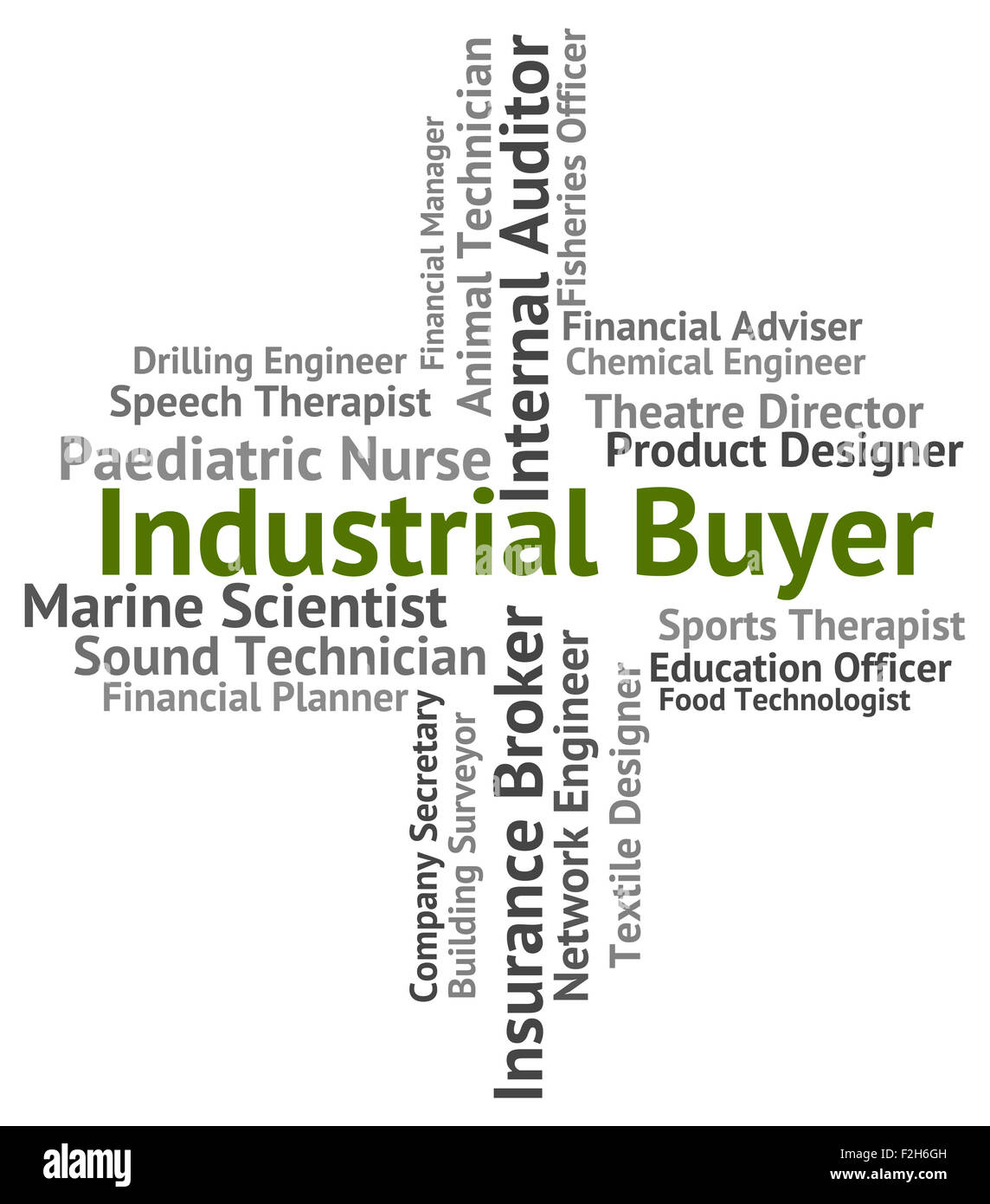 Industrial Buyer Representing Trade Occupation And Employee - Stock Image