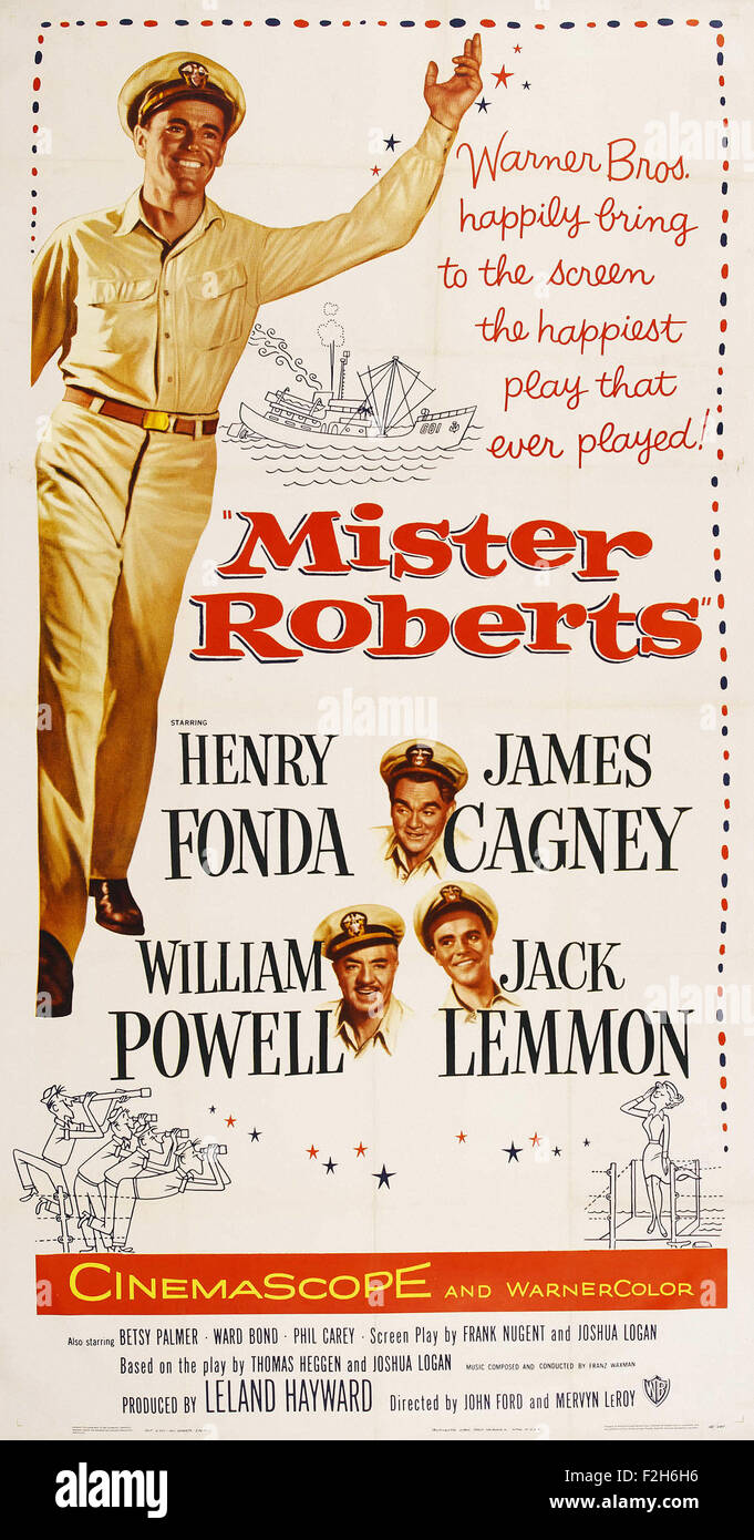 Mister Roberts 01 - Movie Poster - Stock Image