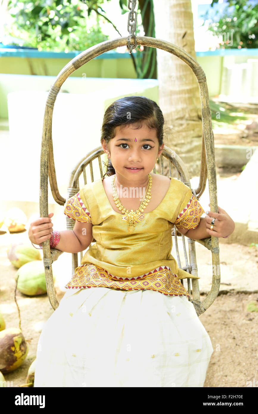 5 year old baby kerala styale onam stayle her name sanika