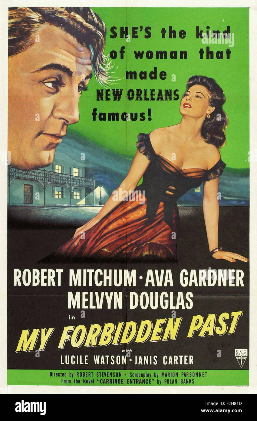 My Forbidden Past 01 - Movie Poster - Stock Image