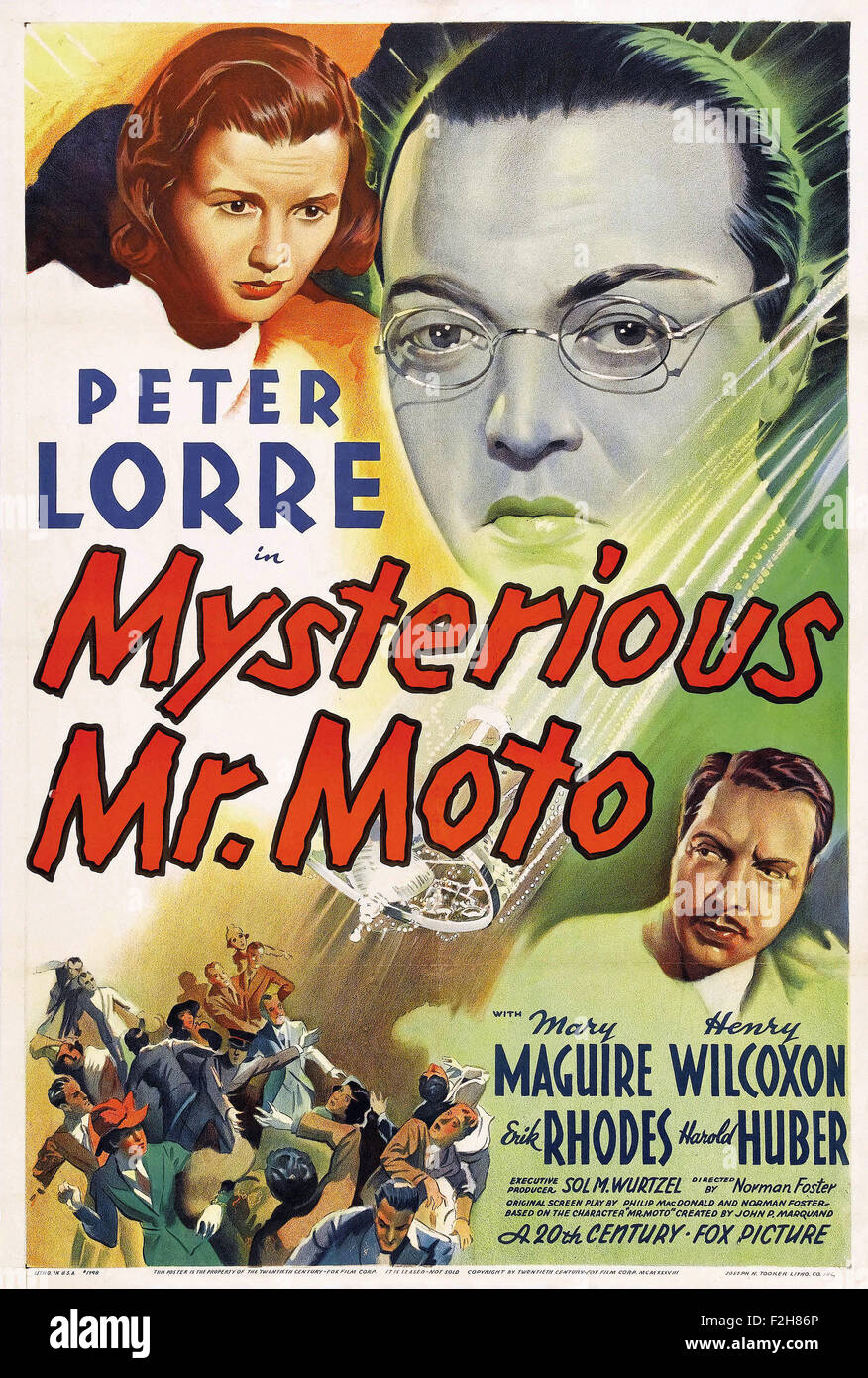 Mysterious Mr. Moto - Movie Poster - Stock Image