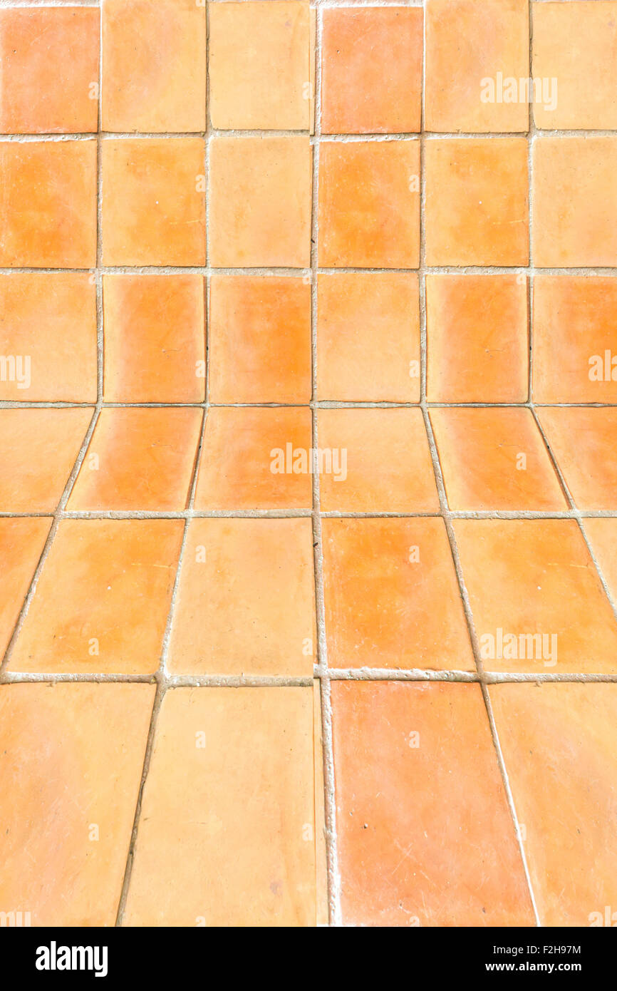 The Square Clay Tile Floor Pattern Background Stock Photo 87661608