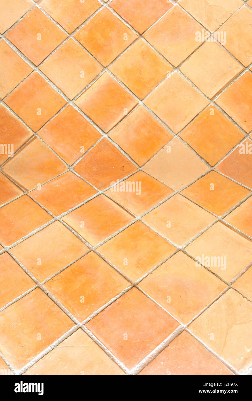Square Clay Tile Floor Pattern Stock Photos Square Clay Tile Floor