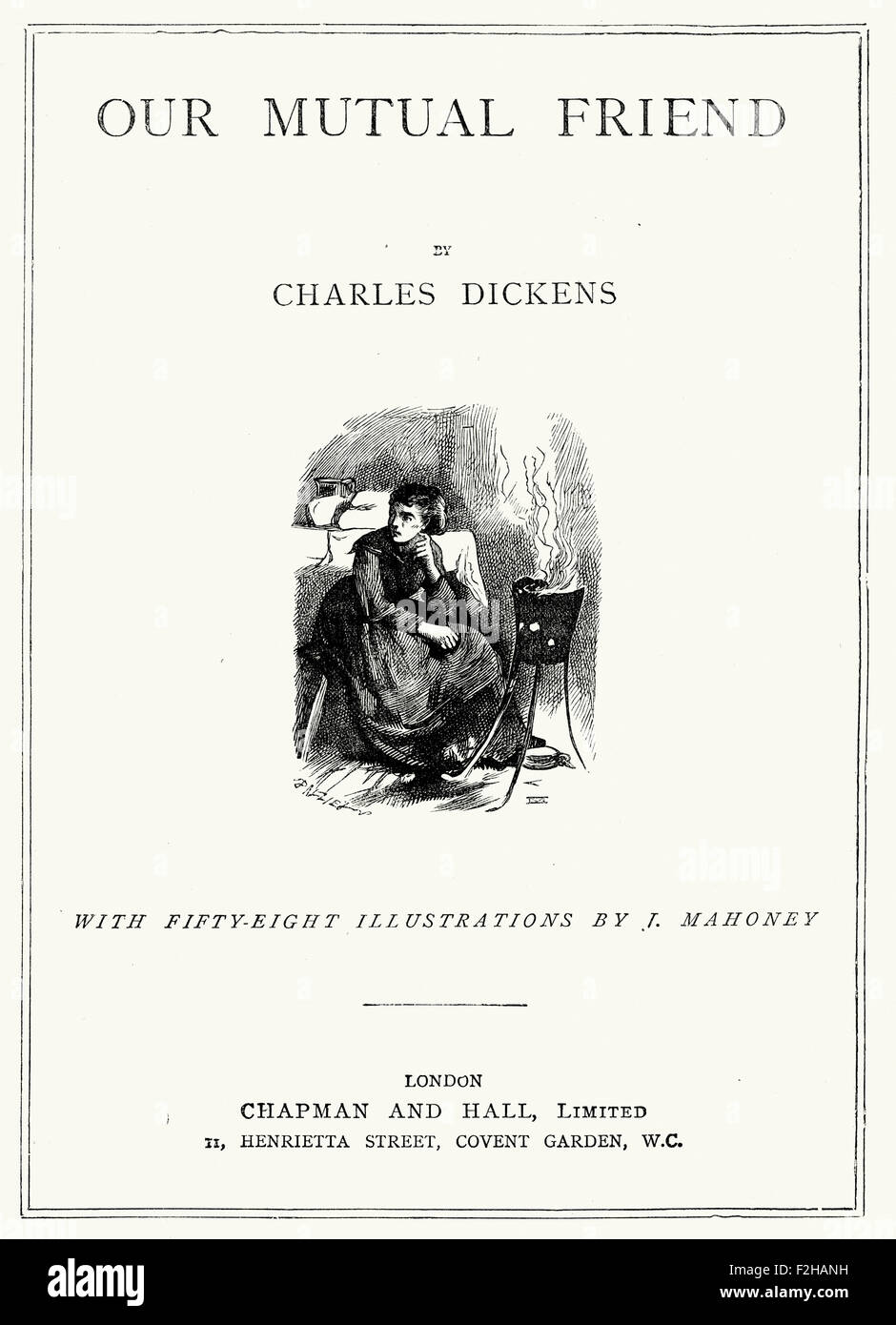 Title page of Our Mutual Friend by Charles Dickens - Stock Image