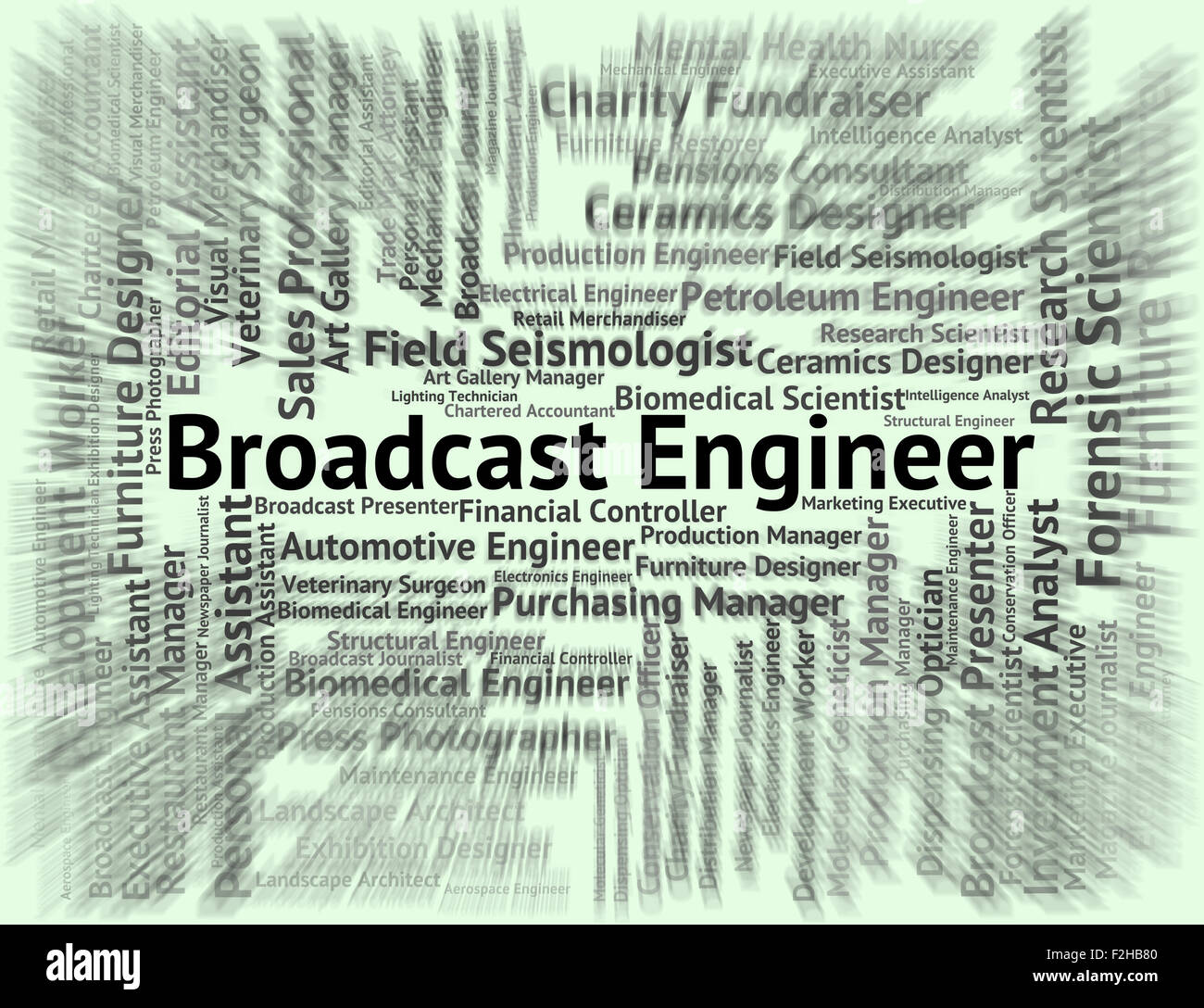 Broadcast Engineer Meaning Work Job And Position Stock Photo