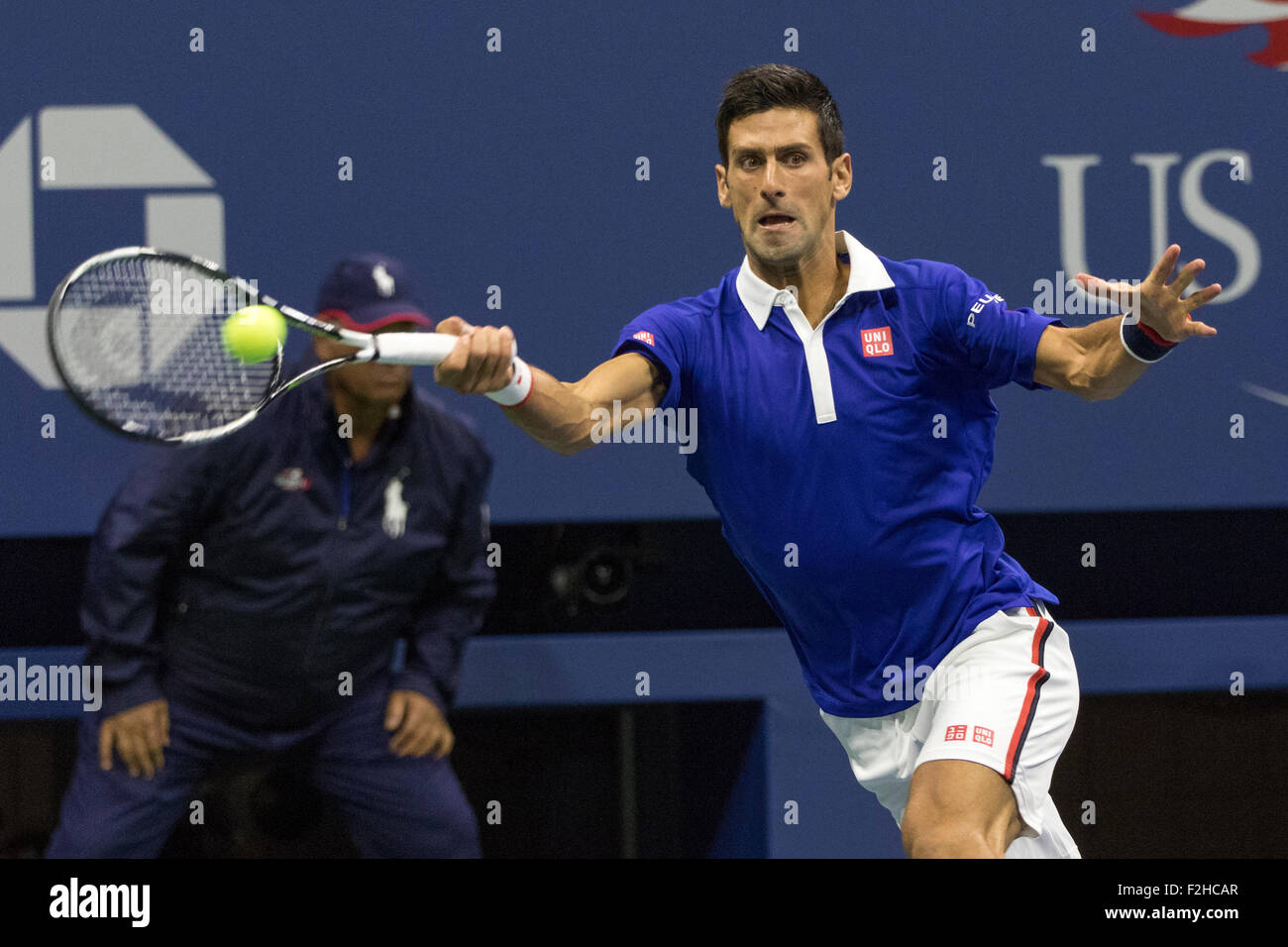Novak Djokovic (SRB) winner of the Men's Final at the  2015 US Open Tennis - Stock Image
