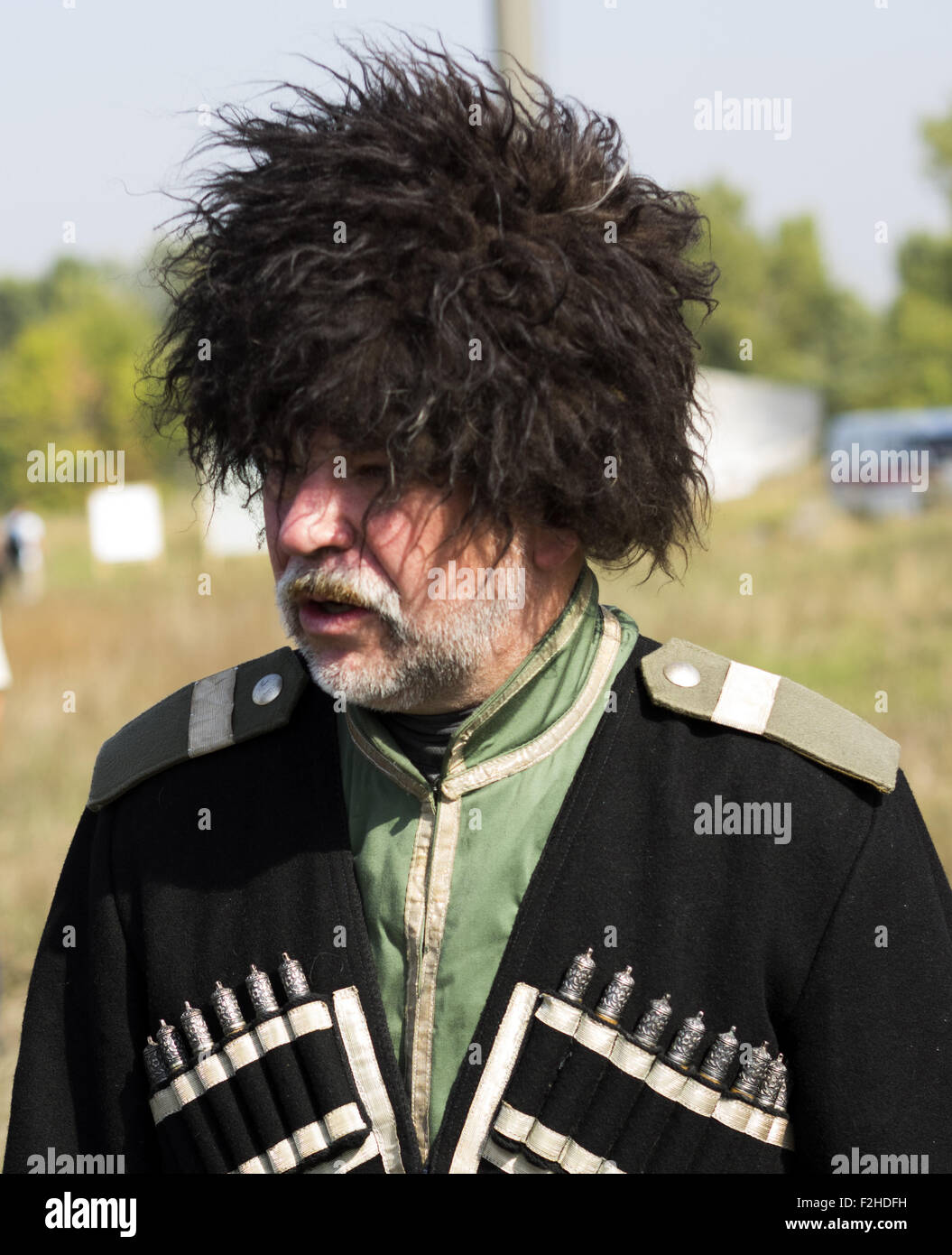 Sept. 19, 2015 - Kuban Cossack WWI -- In the historical festival ''Civilization'' in Kiev, Ukraine - Stock Image