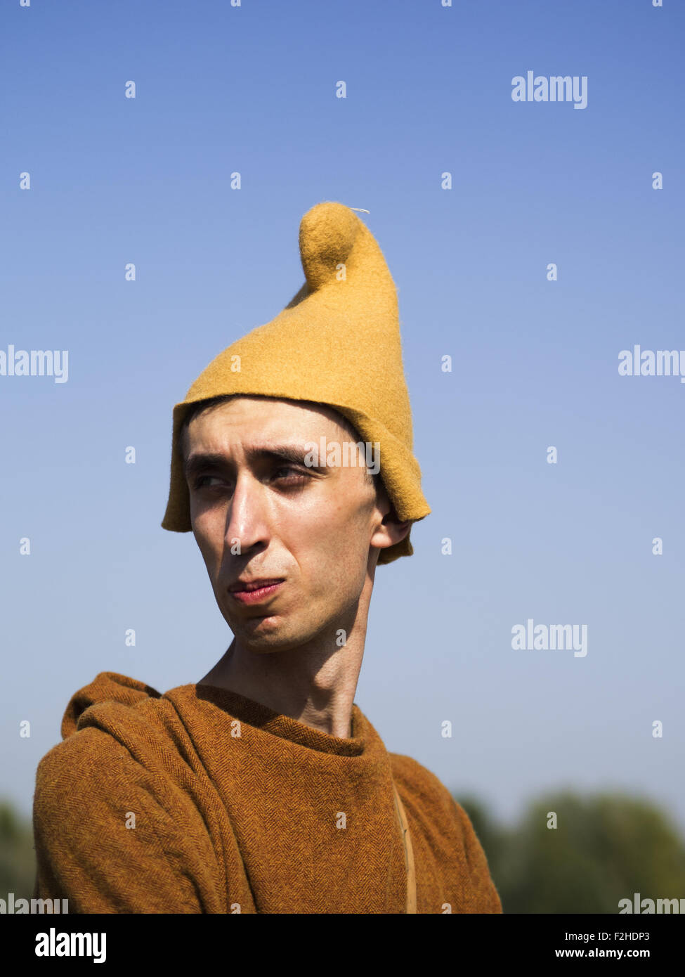 Sept. 19, 2015 - Enactors in the Gali cap -- In the historical festival ''Civilization'' in Kiev, - Stock Image