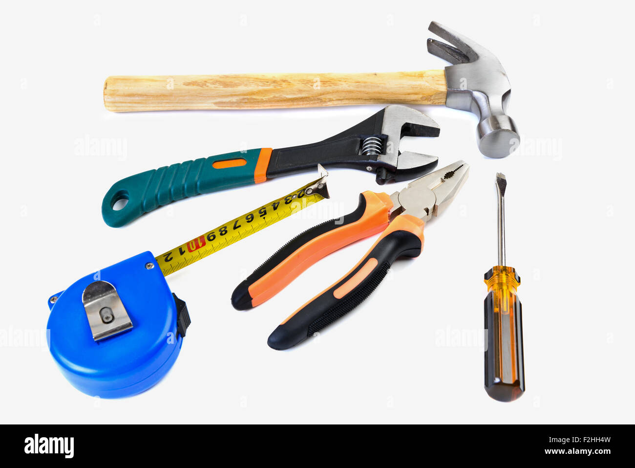 set tool isolated on a white background - Stock Image