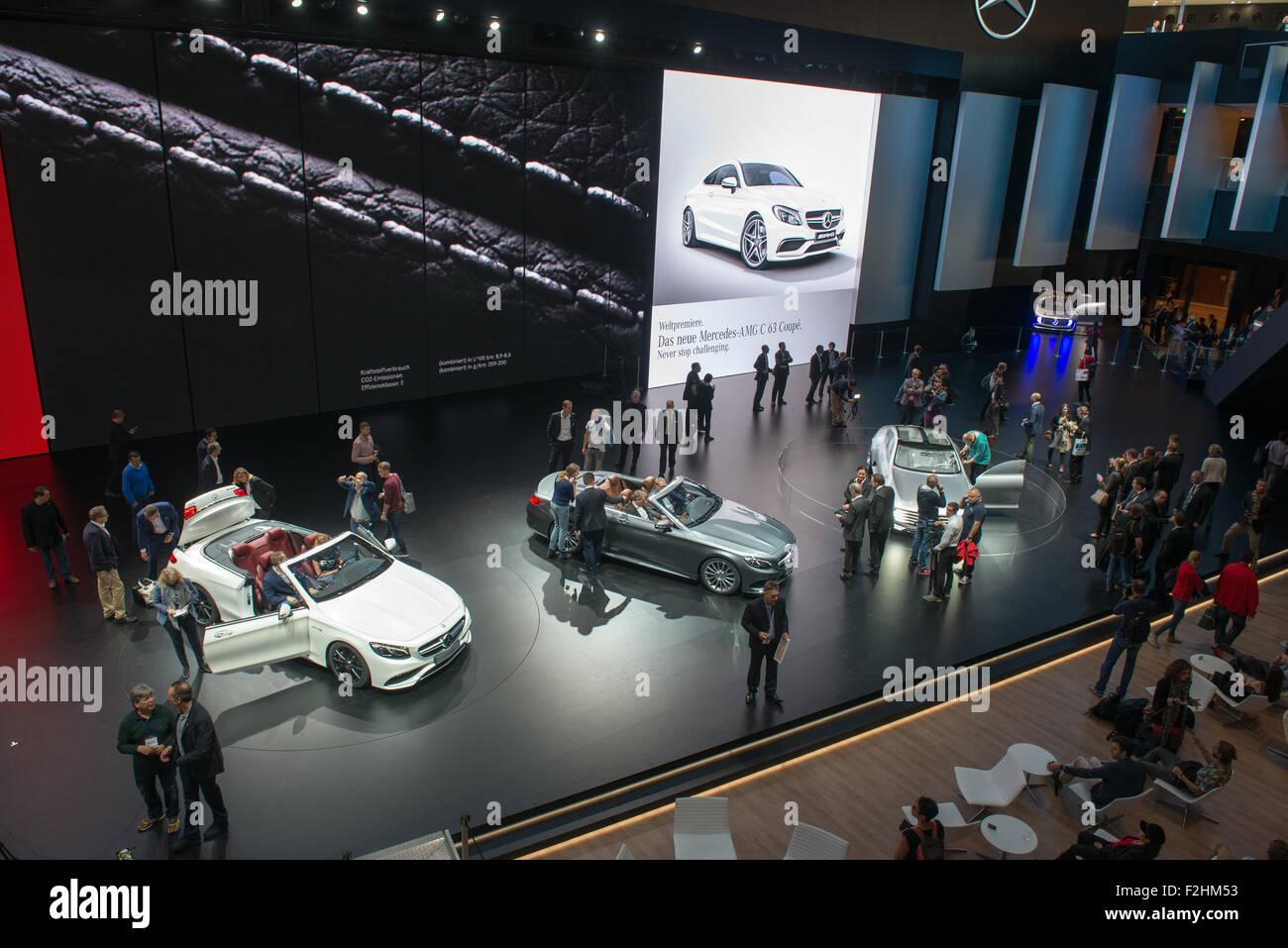Frankfurt international motor show (IAA) 2015  Mercedes-Benz