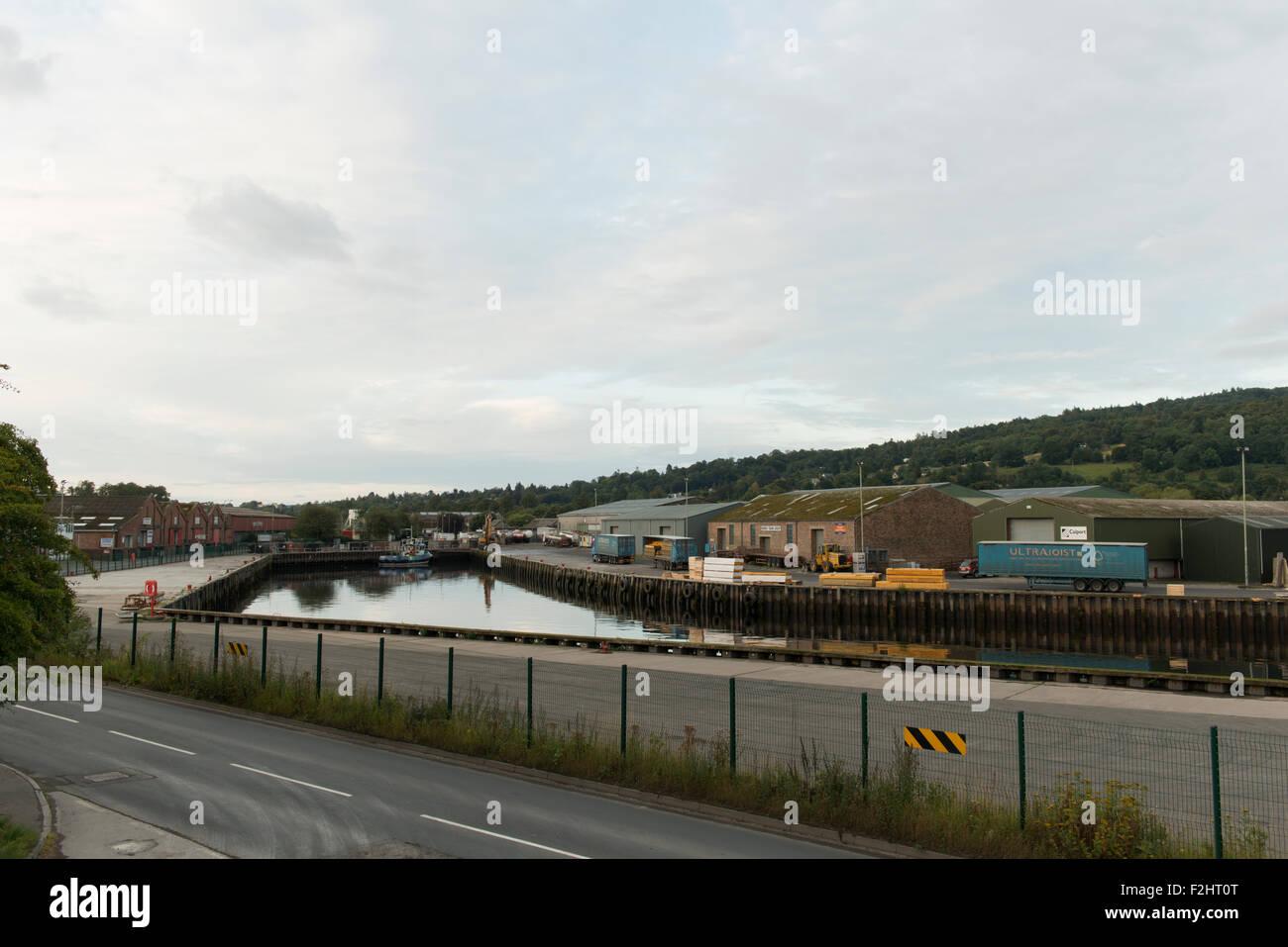 Perth harbour,lower Friarton,Perth,Scotland,UK, - Stock Image