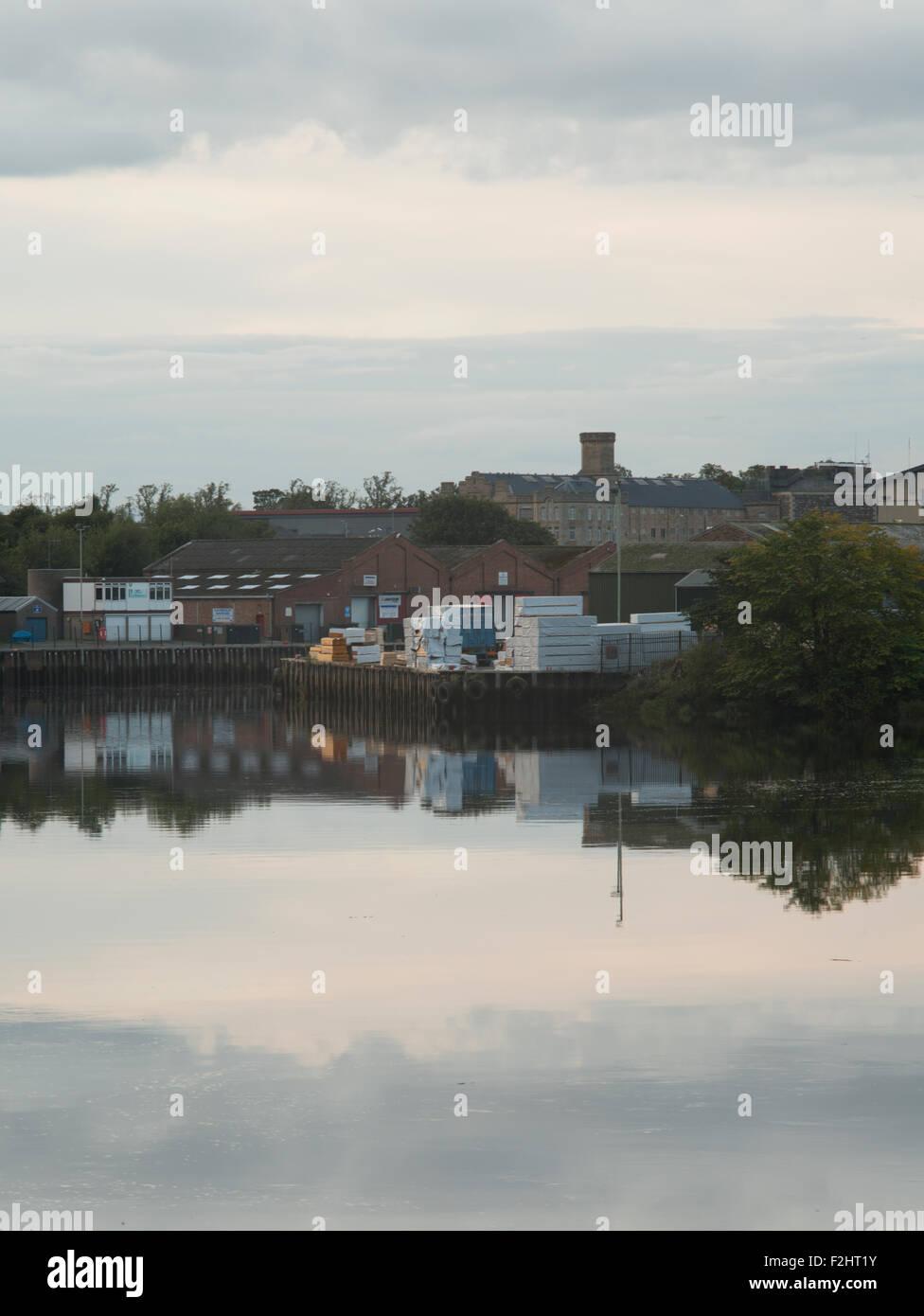 Perth harbour entrance,lower Friarton,Perth,Scotland,UK, - Stock Image