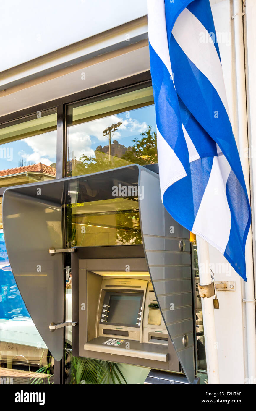 ATM in Greece - Stock Image