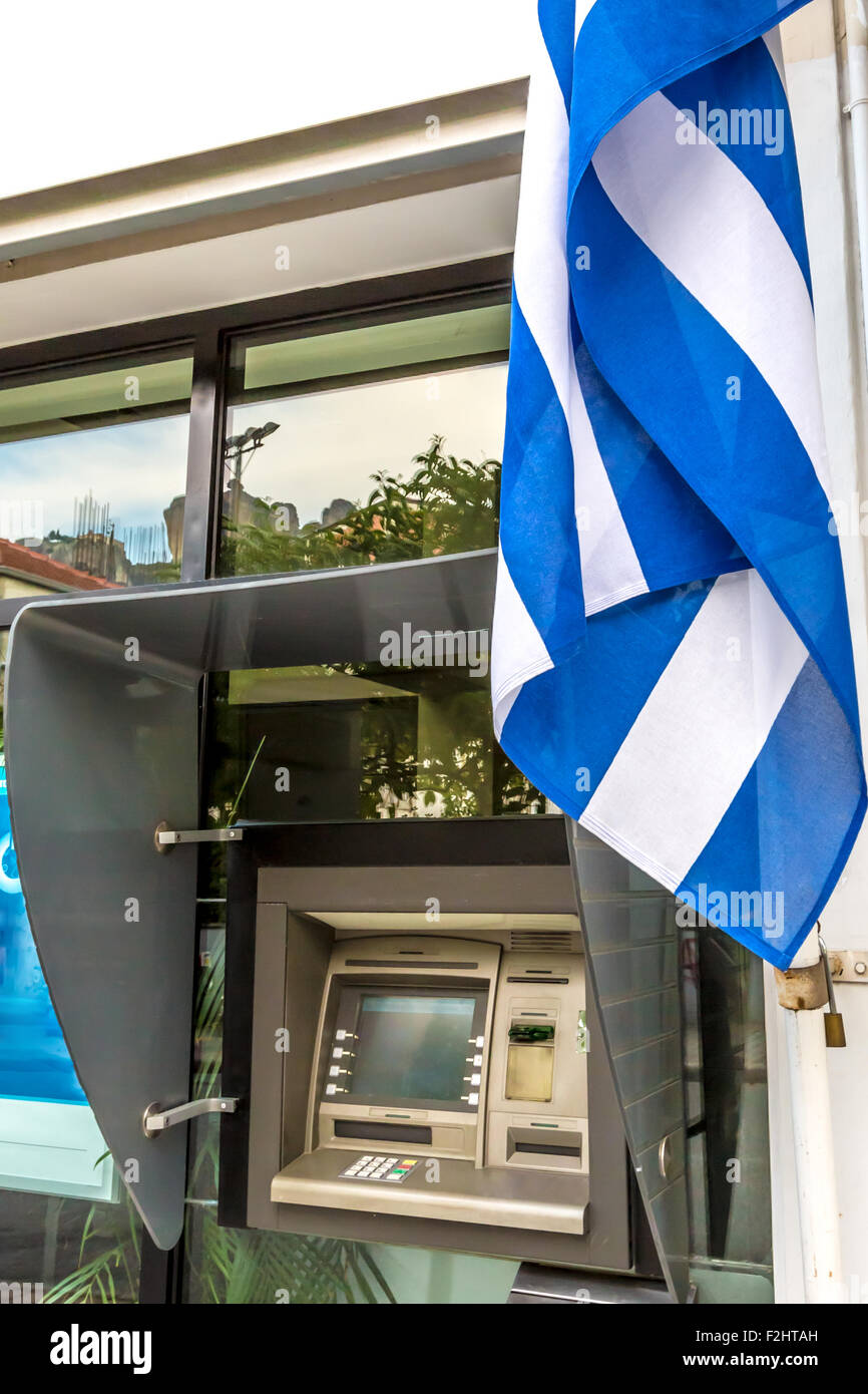 Greek ATM - Stock Image