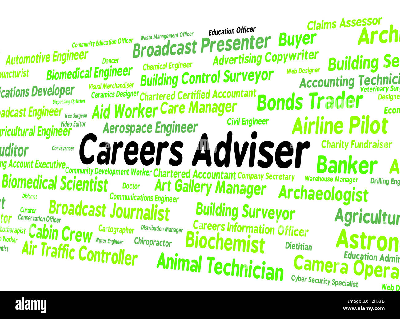 Careers Adviser Meaning Employment Position And Tutor - Stock Image