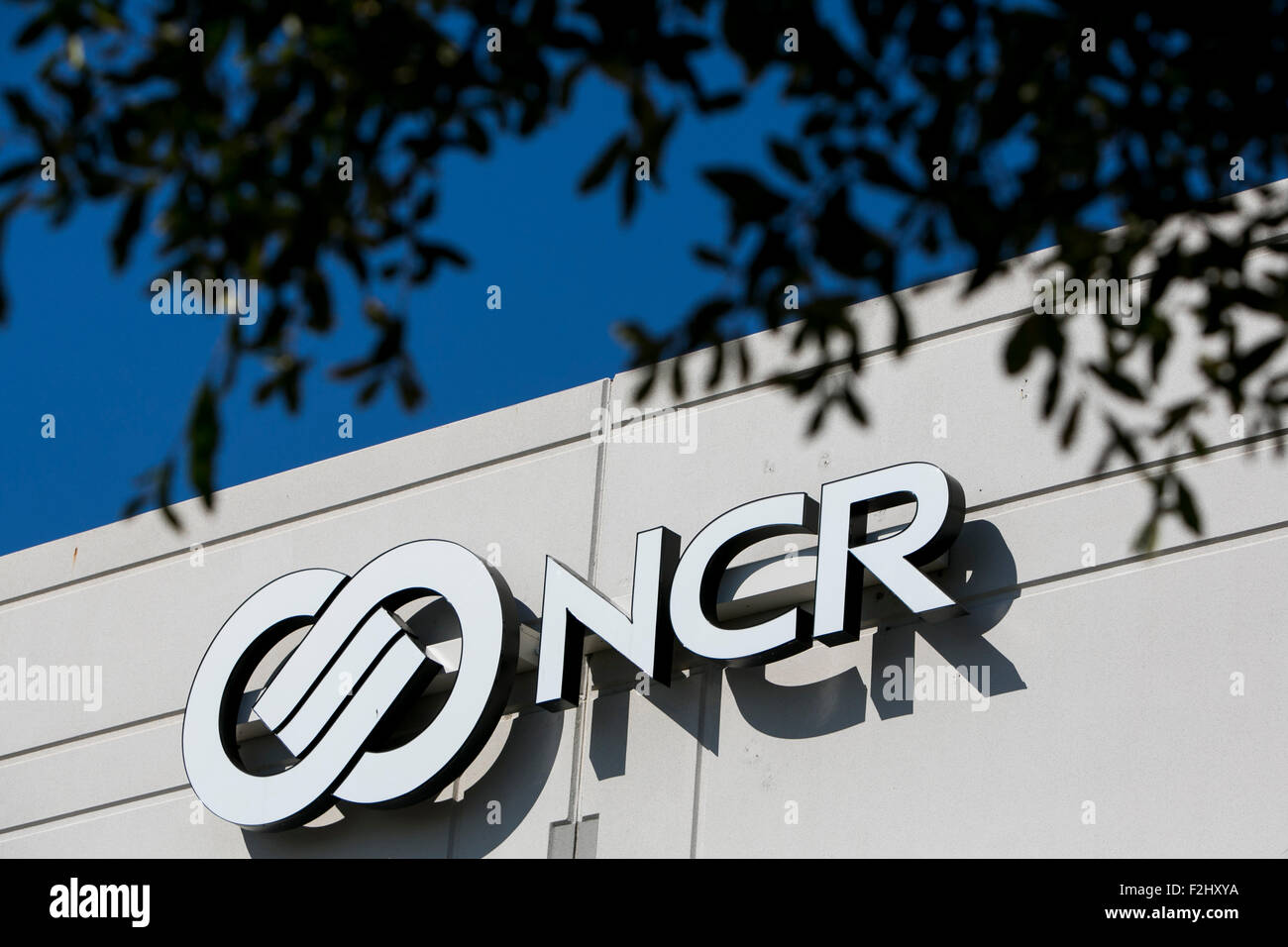 A Logo Sign Outside Of Facility Occupied By The NCR Corporation In Plano Texas On September 12 2015