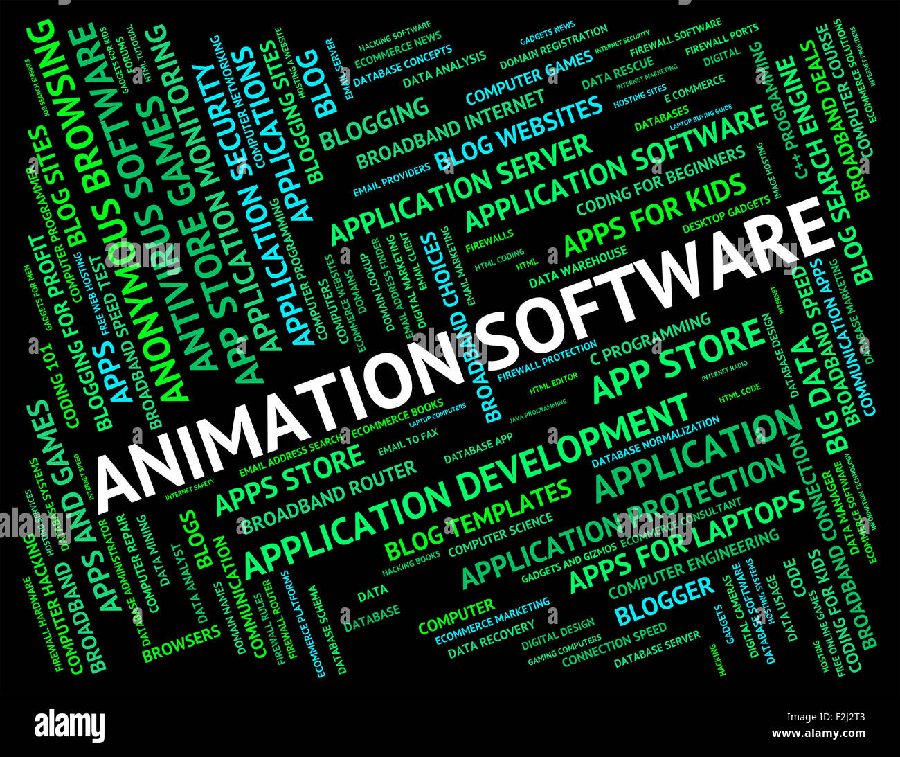 Animation Software Indicating Program Programs And Text