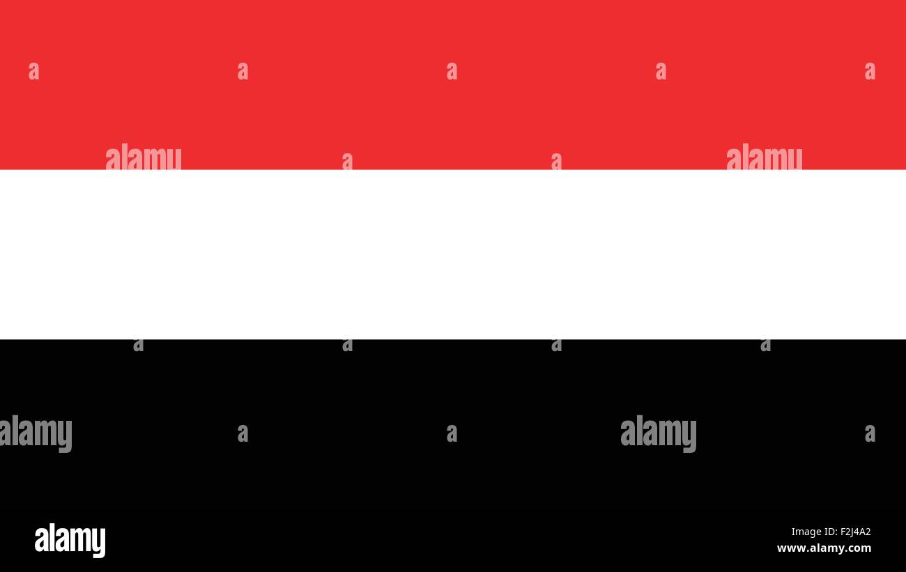 yemen Flag for Independence Day and infographic Vector illustration. - Stock Vector