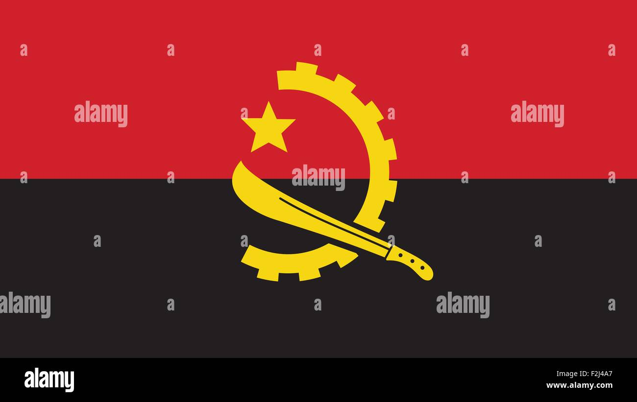Angola Flag for Independence Day and infographic Vector illustration. - Stock Vector