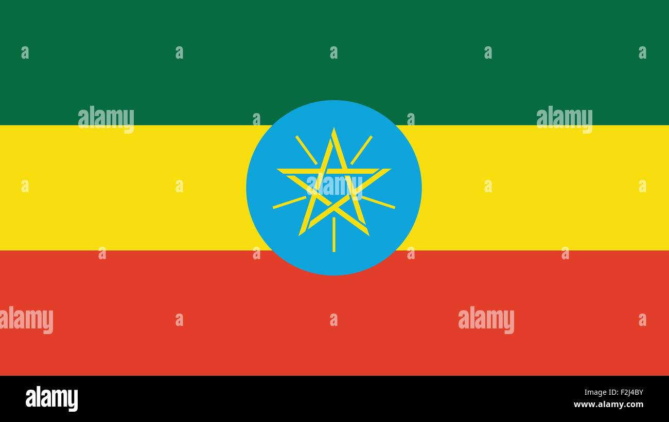 ethiopia Flag for Independence Day and infographic Vector illustration. - Stock Vector