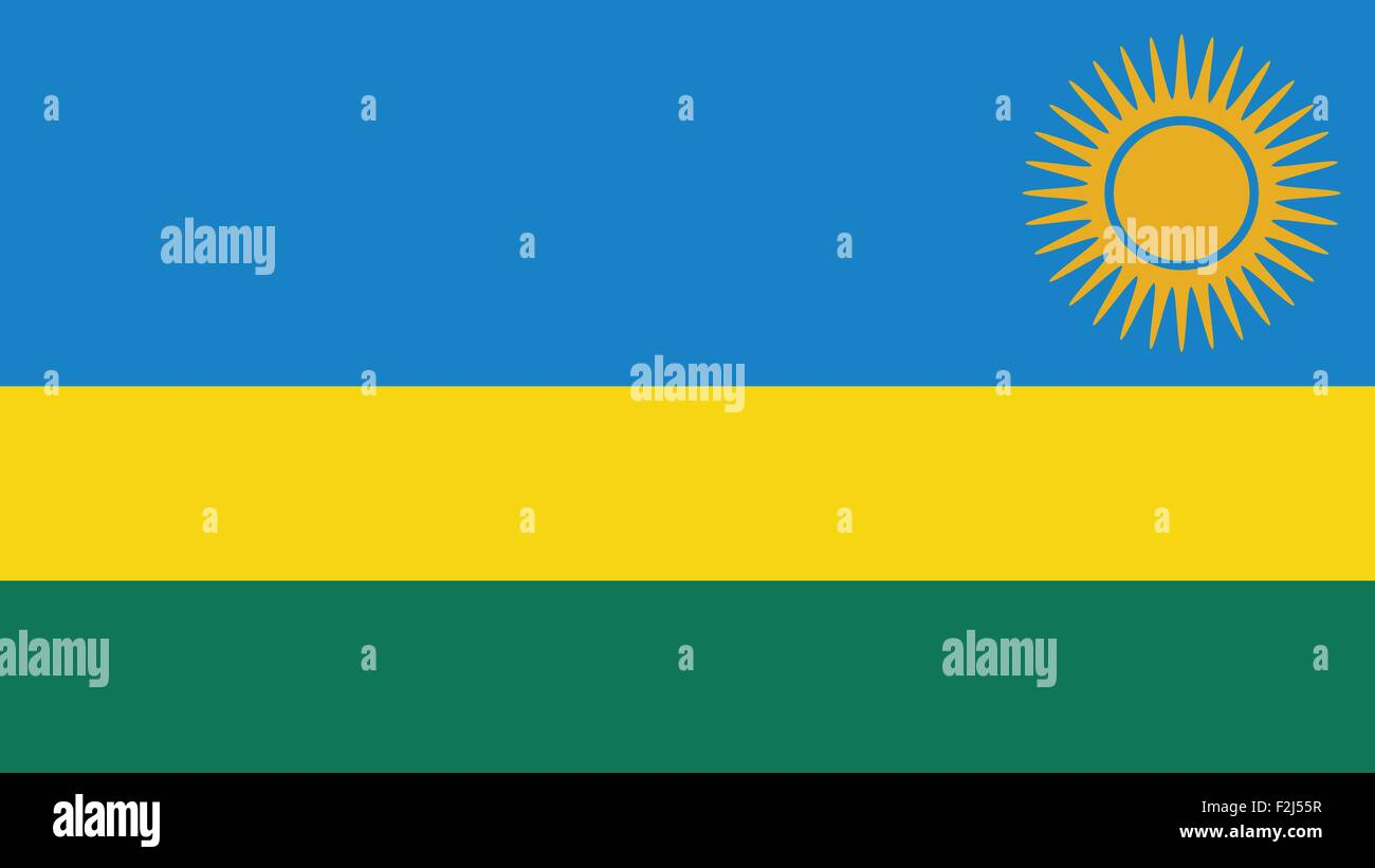 Rwanda Flag for Independence Day and infographic Vector illustration. - Stock Vector