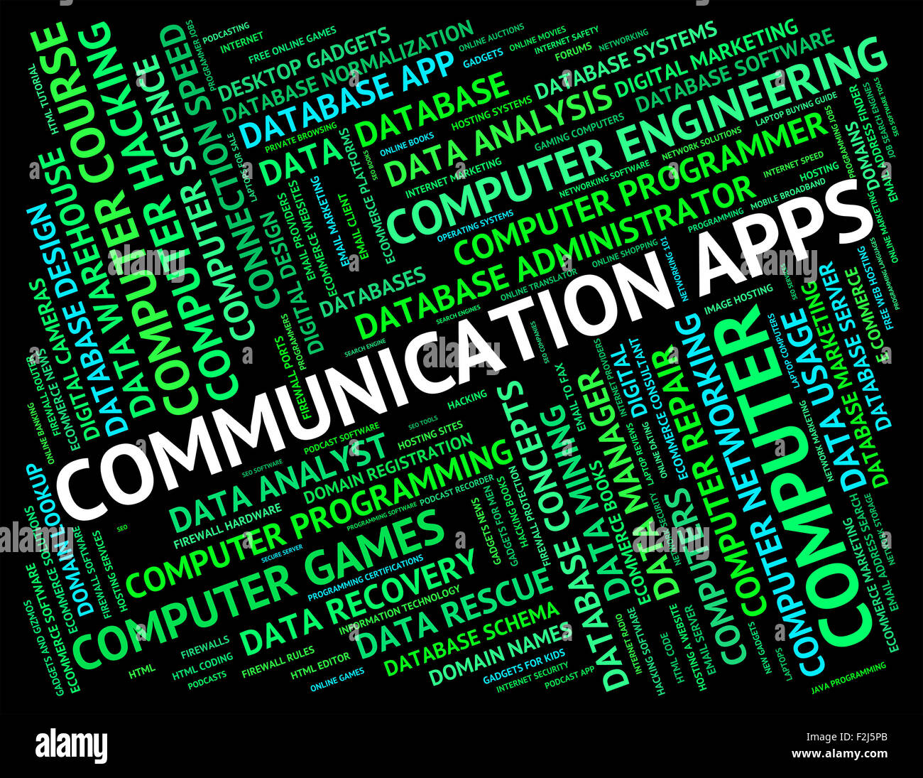 communication apps meaning word computer and chatting stock photo