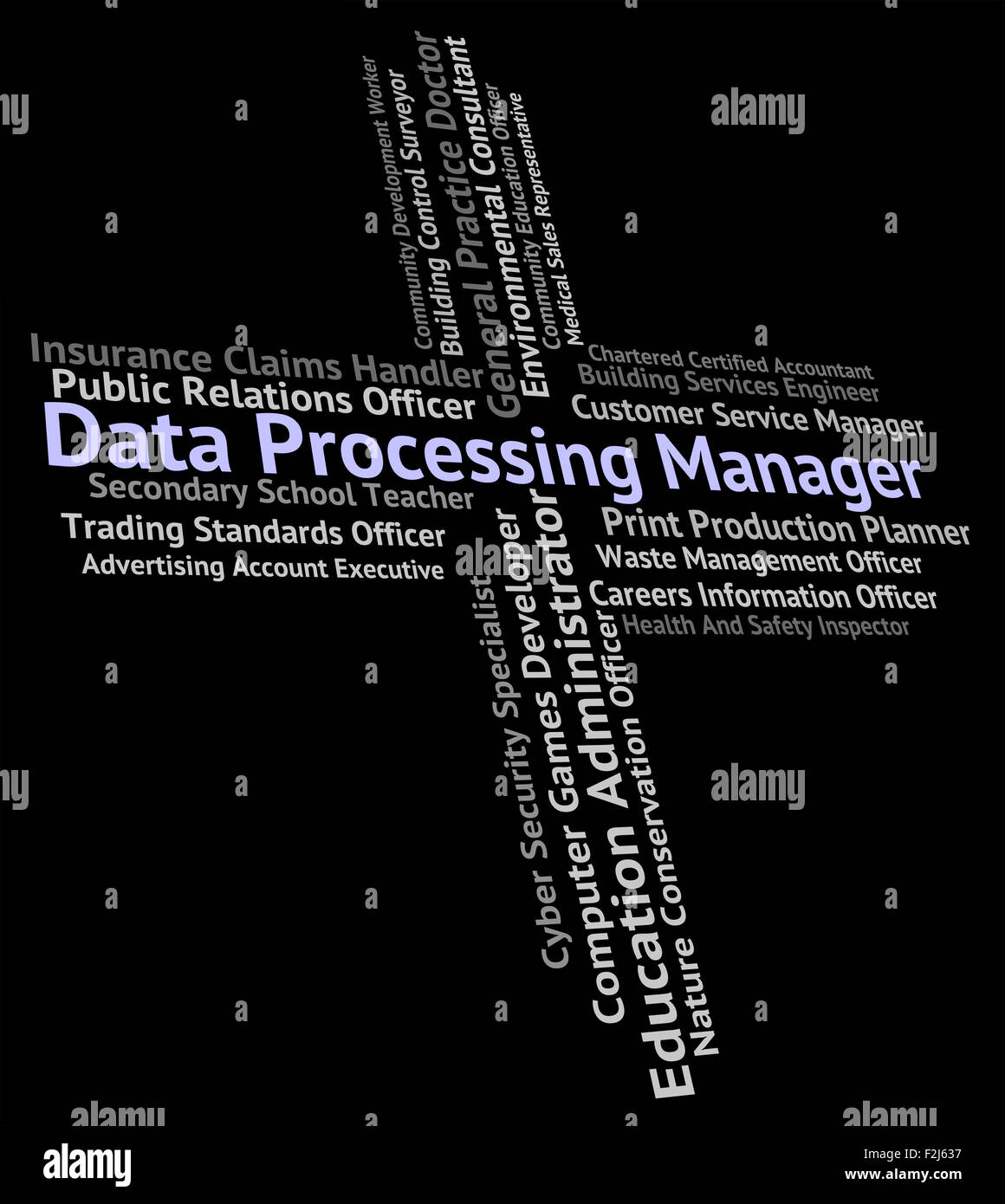 Data Processing Manager Showing Hire Jobs And Managers Stock