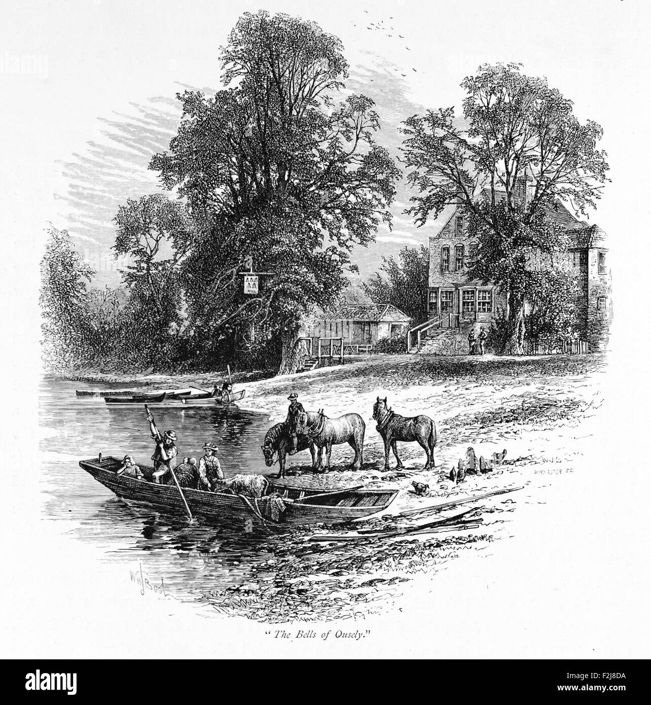 Bells of Ouzeley at Windsor_Illustration from 'The British isles - Cassell Petter & Galpin Part 6 Picturesque - Stock Image