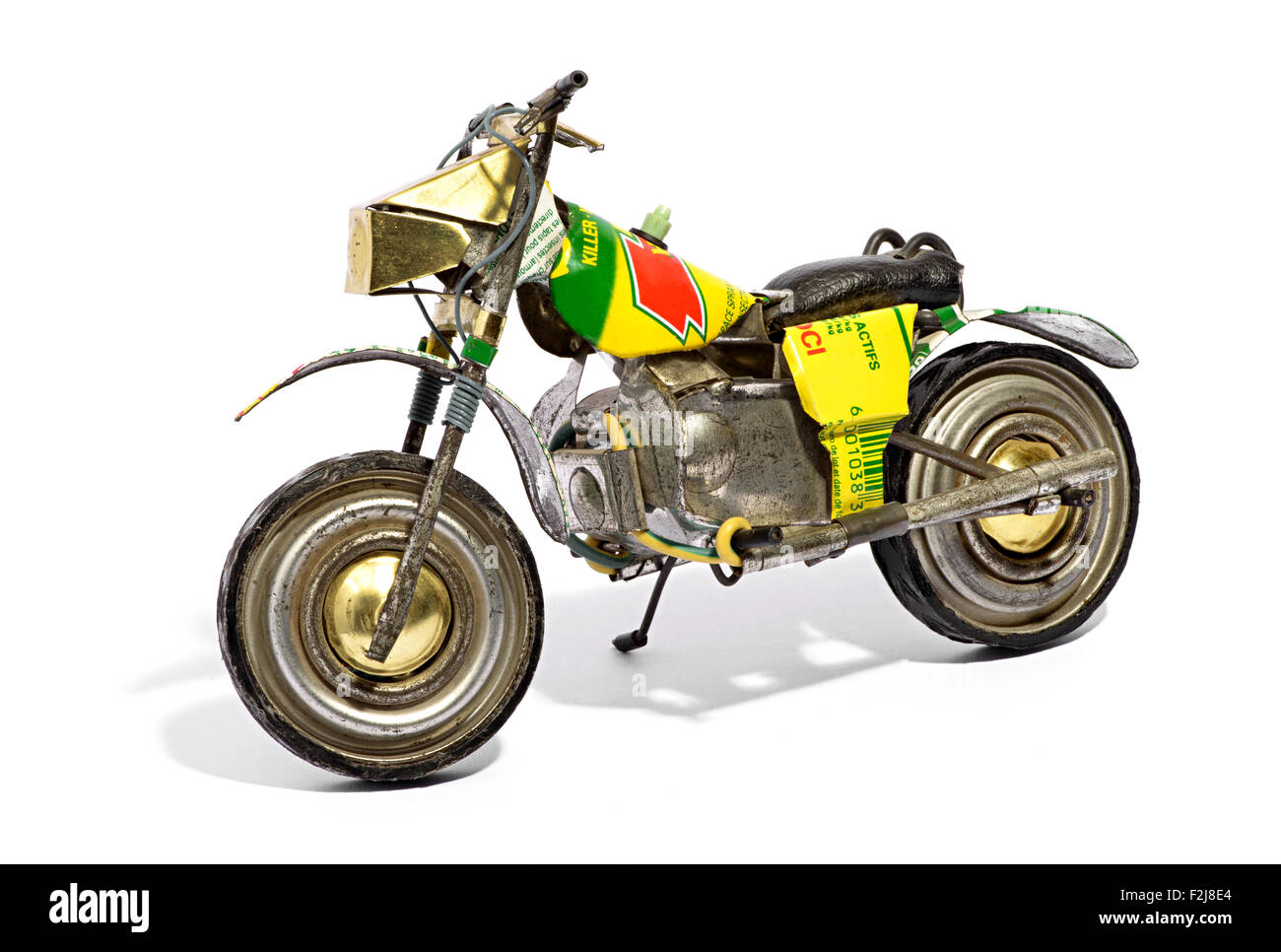 Scale model of a retro motorbike - Stock Image