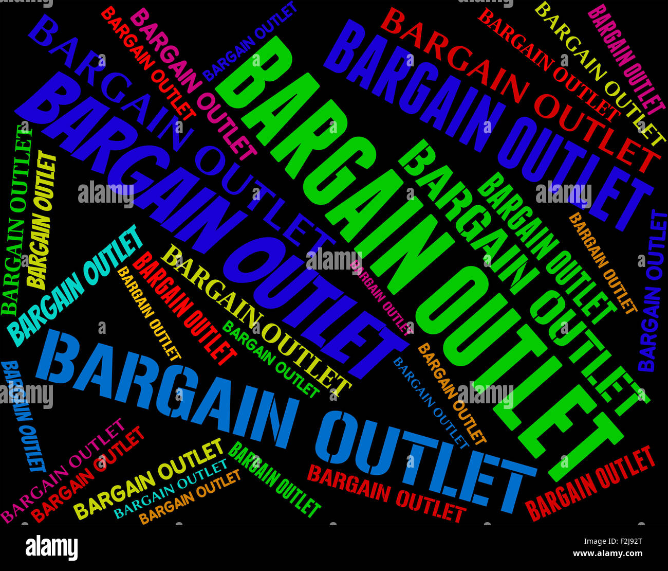 Bargain Outlet Meaning Store Words And Promotional Stock Photo